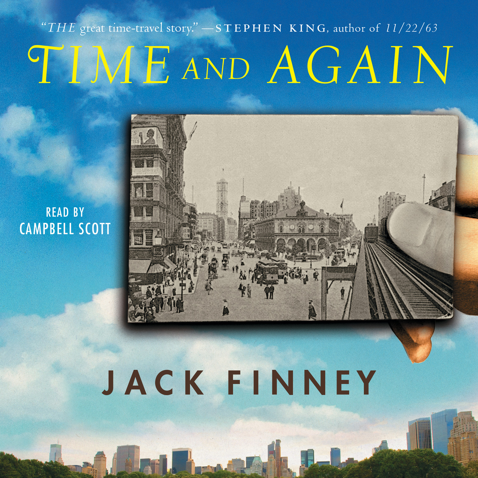 Printable Time and Again Audiobook Cover Art