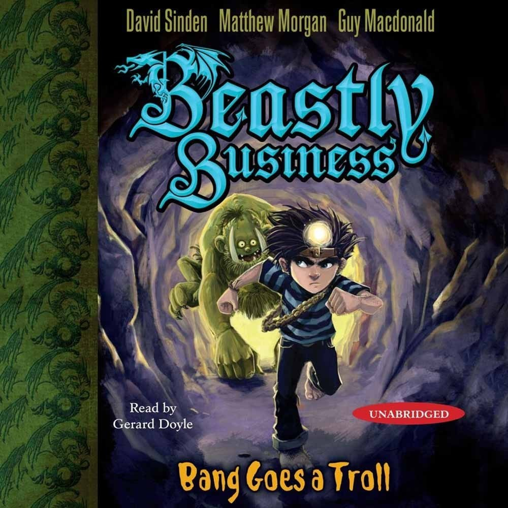 Printable Bang Goes a Troll: An Awfully Beastly Business Audiobook Cover Art
