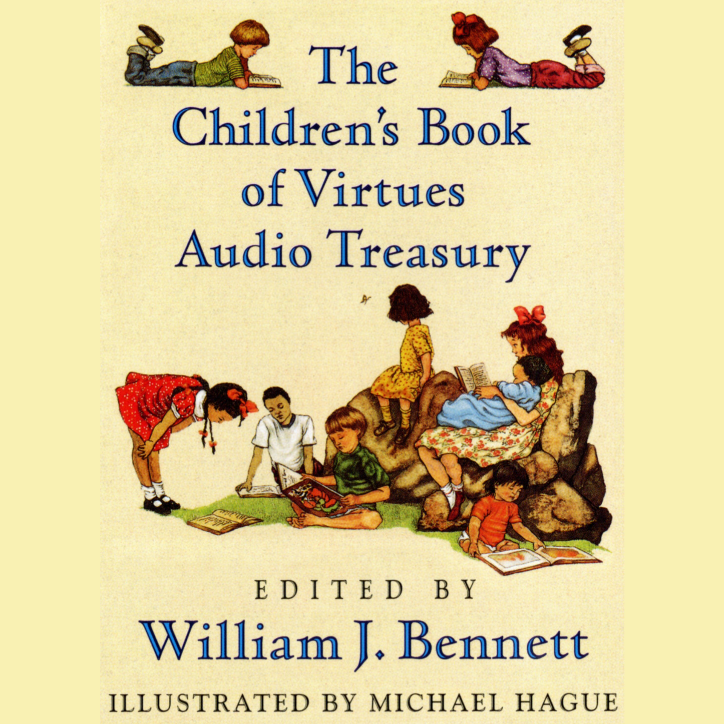 Printable William J Bennett Children's Audio Treasury Audiobook Cover Art