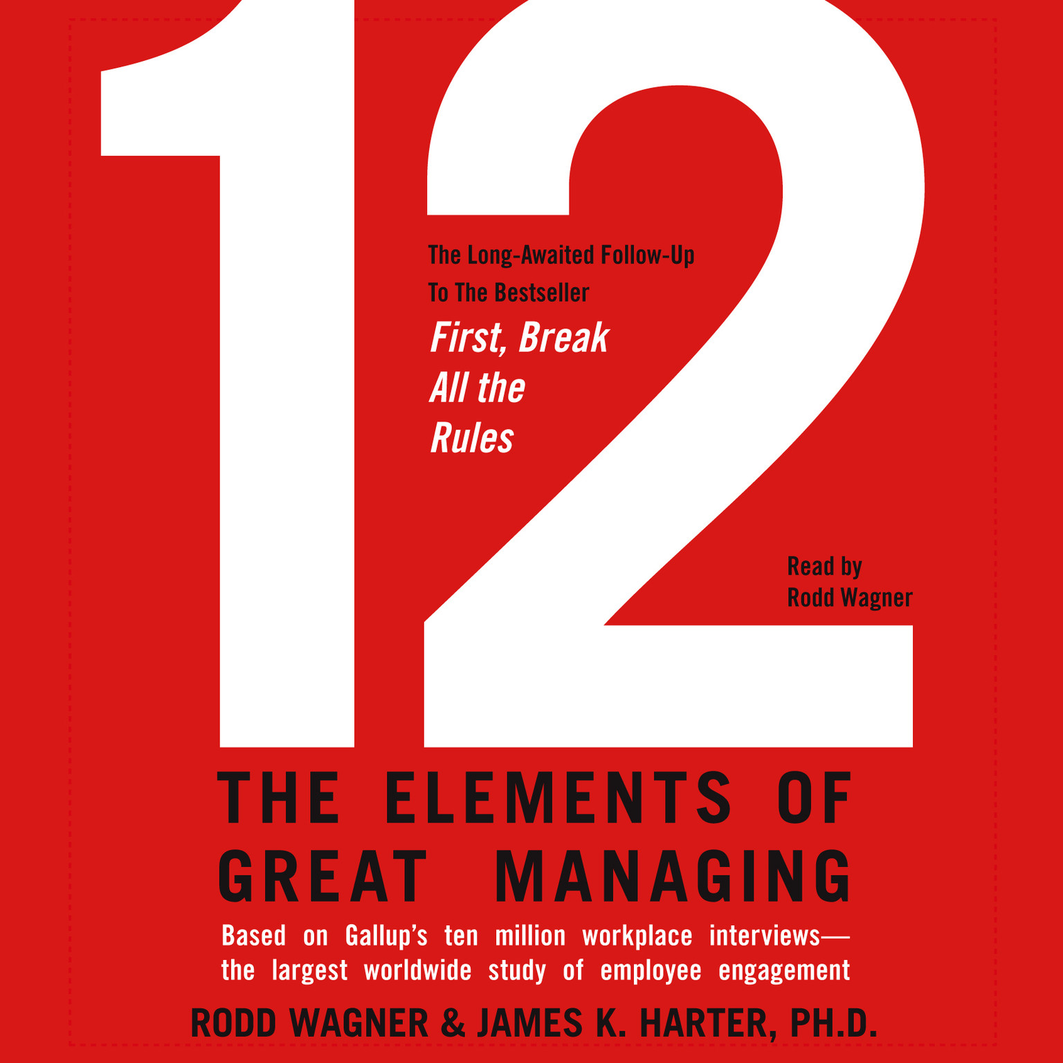 Printable 12: The Elements of Great Managing Audiobook Cover Art