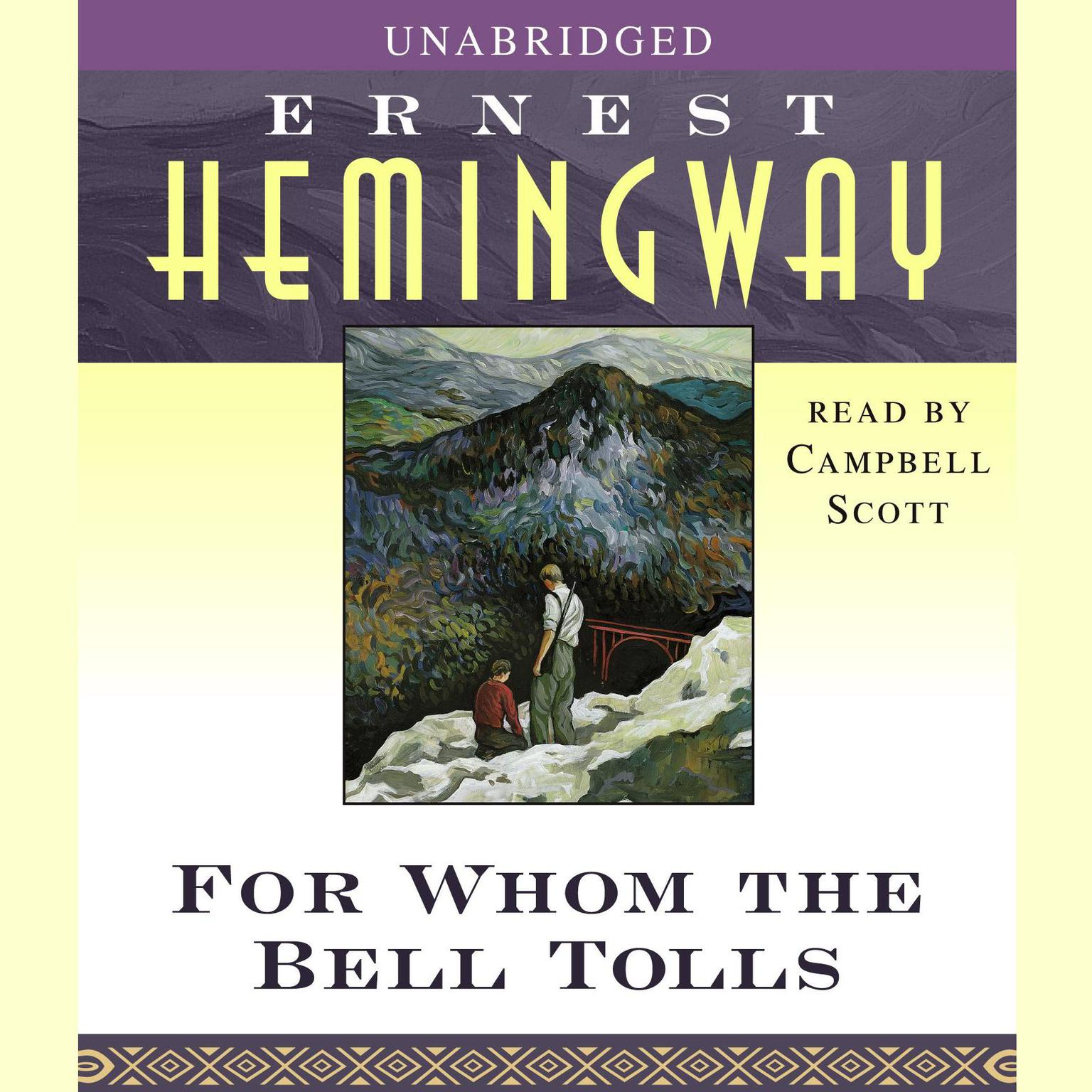 Printable For Whom the Bell Tolls Audiobook Cover Art