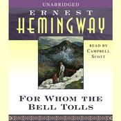 For Whom the Bell Tolls, by Ernest Hemingway
