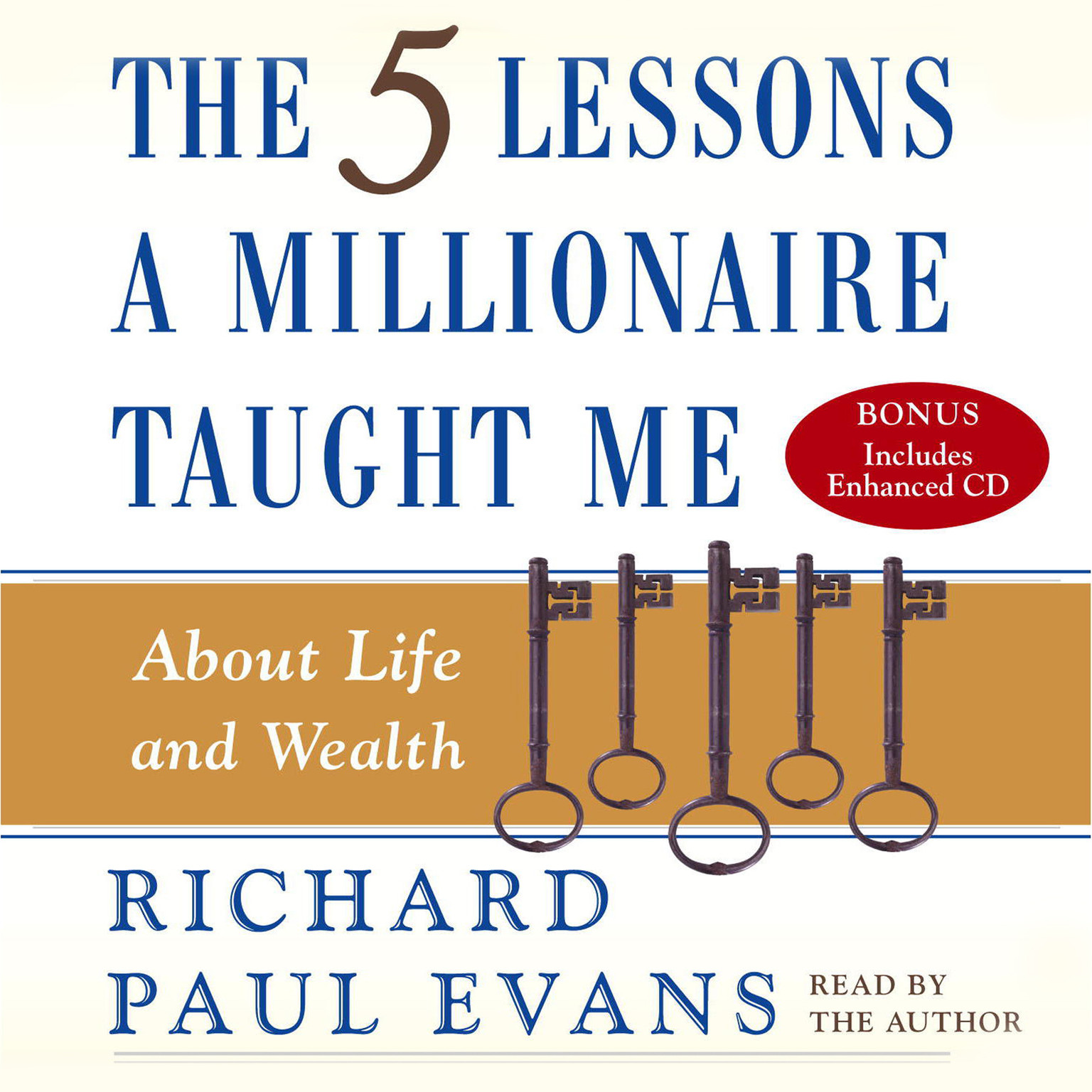 Printable Five Lesson a Millionaire Taught Me Audiobook Cover Art