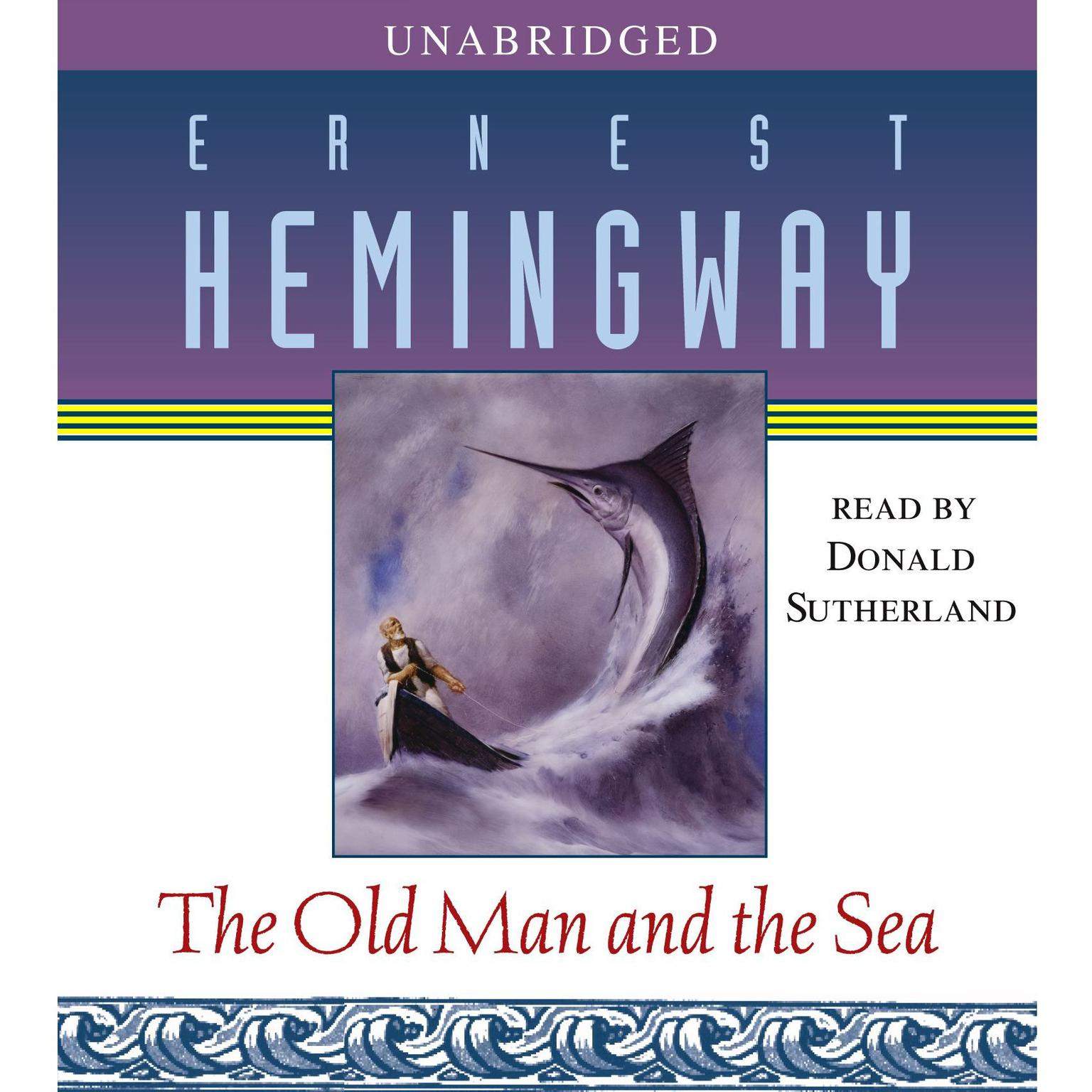 Printable The Old Man and the Sea Audiobook Cover Art