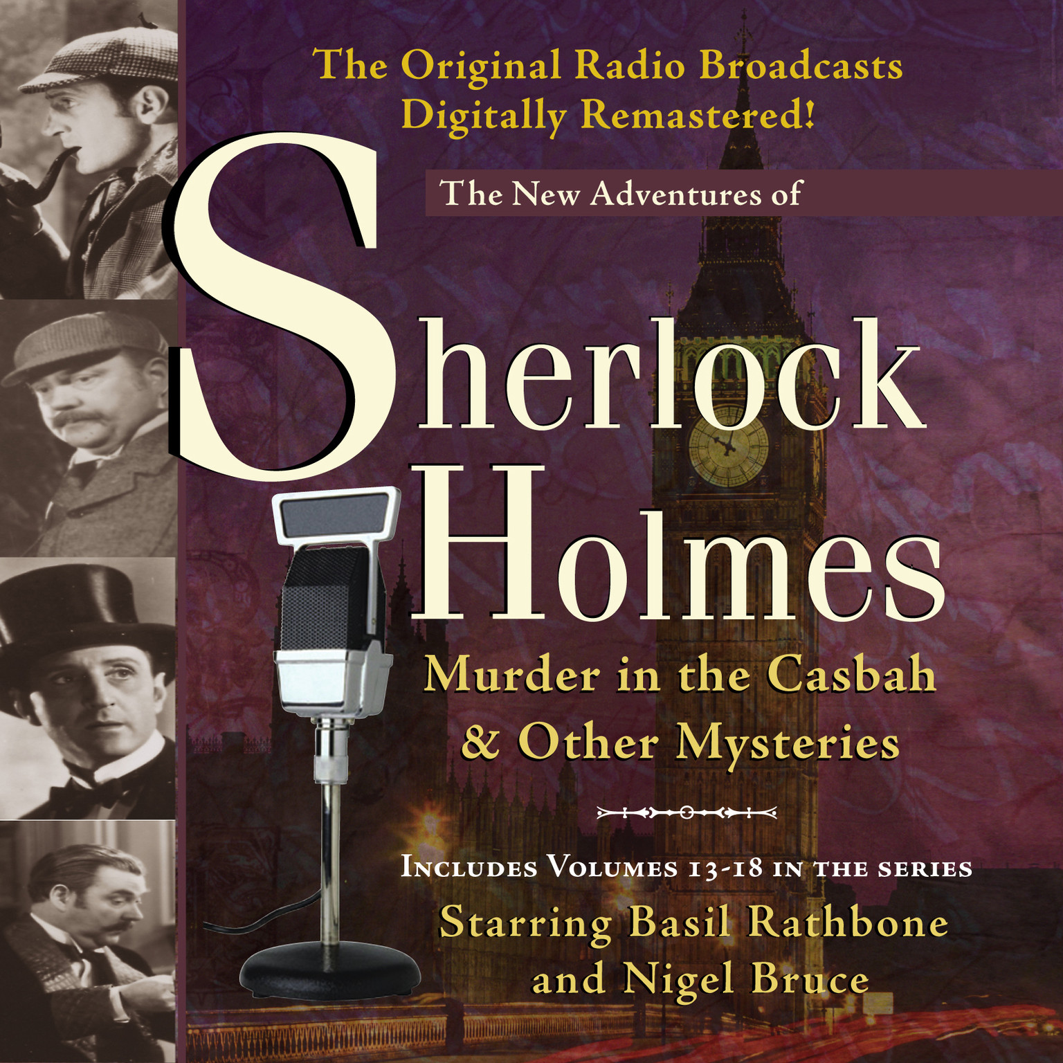 Printable Murder in the Casbah and Other Mysteries: New Adventures of Sherlock Holmes, Episodes 13–18 Audiobook Cover Art
