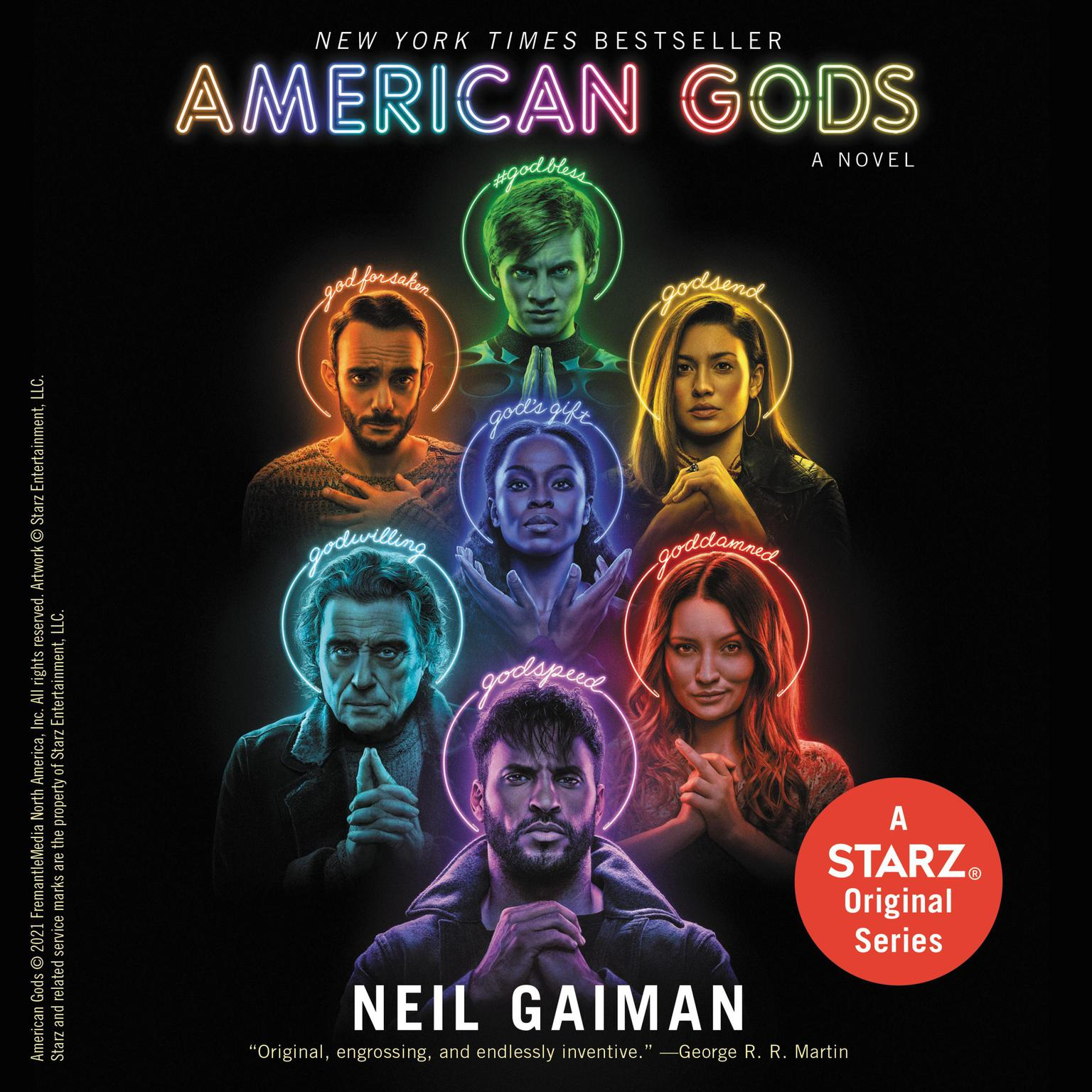 Printable American Gods Audiobook Cover Art