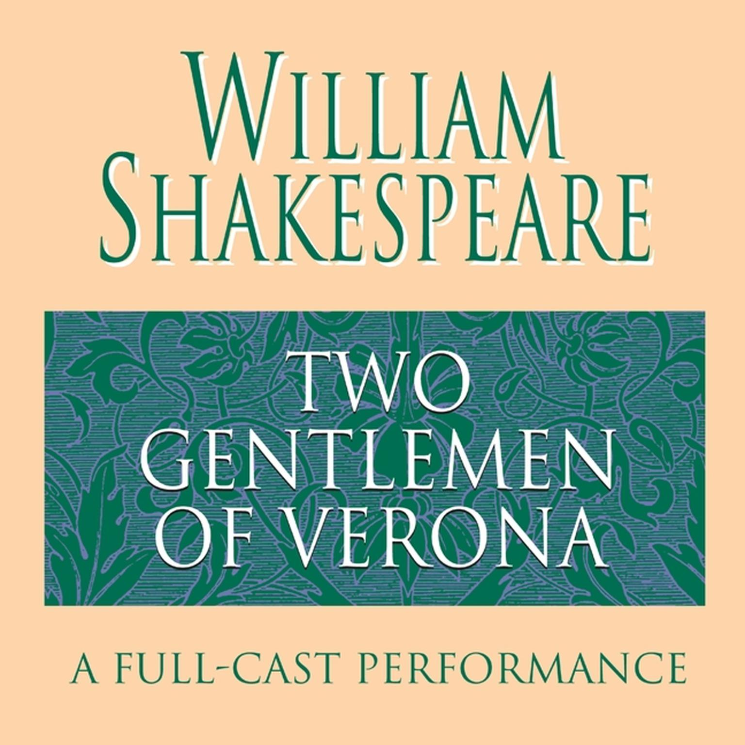 Printable The Two Gentlemen of Verona Audiobook Cover Art