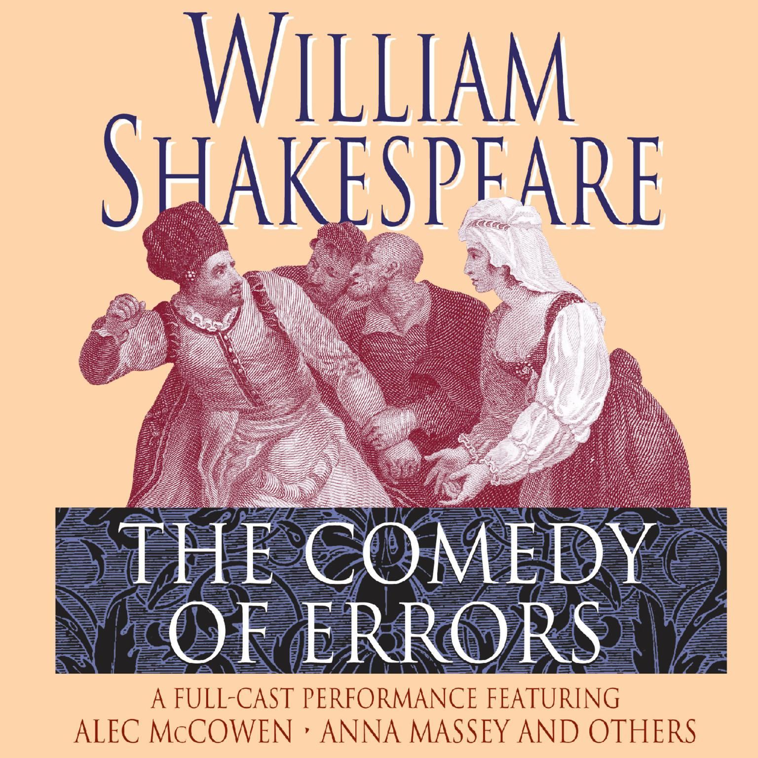 Printable The Comedy of Errors Audiobook Cover Art