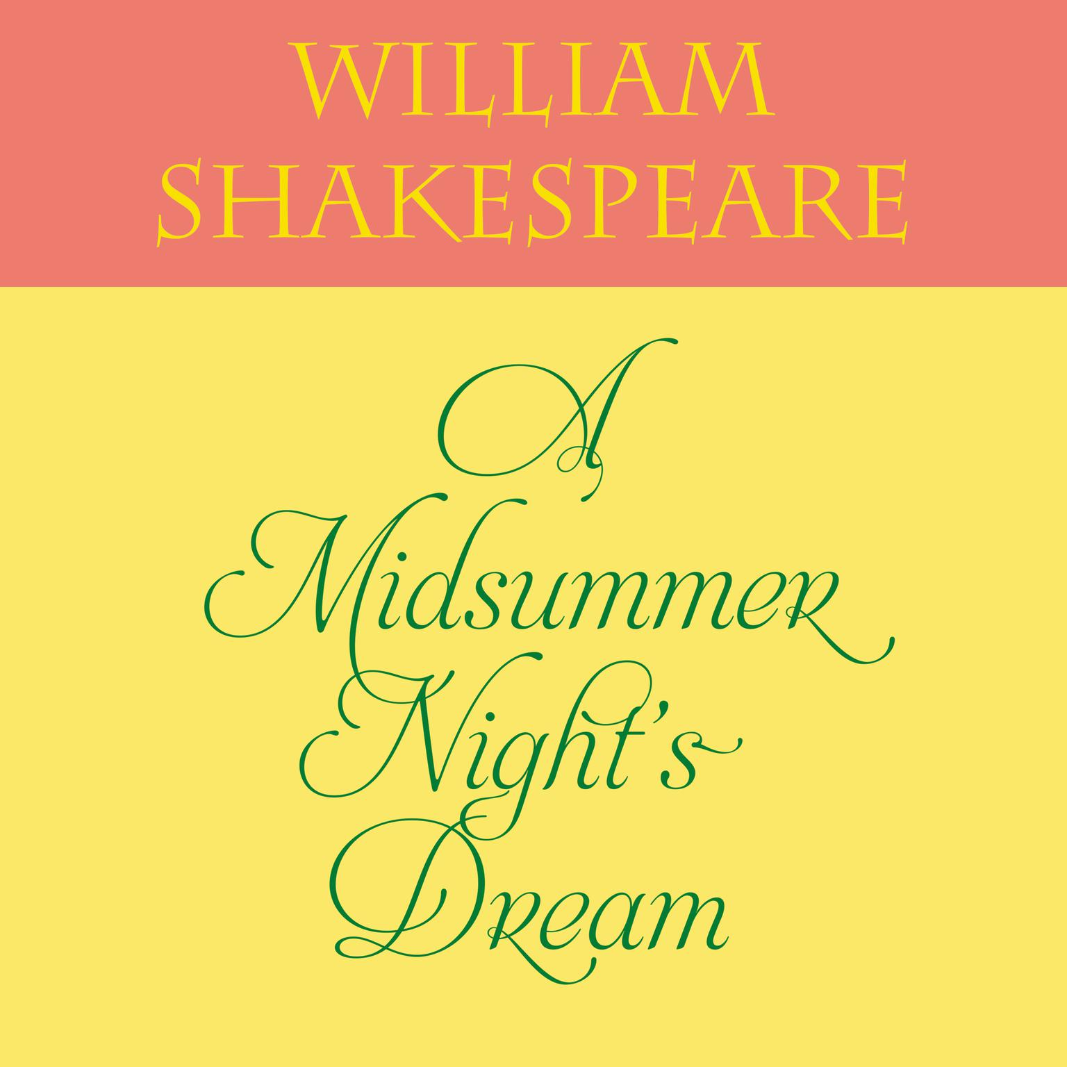Printable A Midsummer Night's Dream Audiobook Cover Art