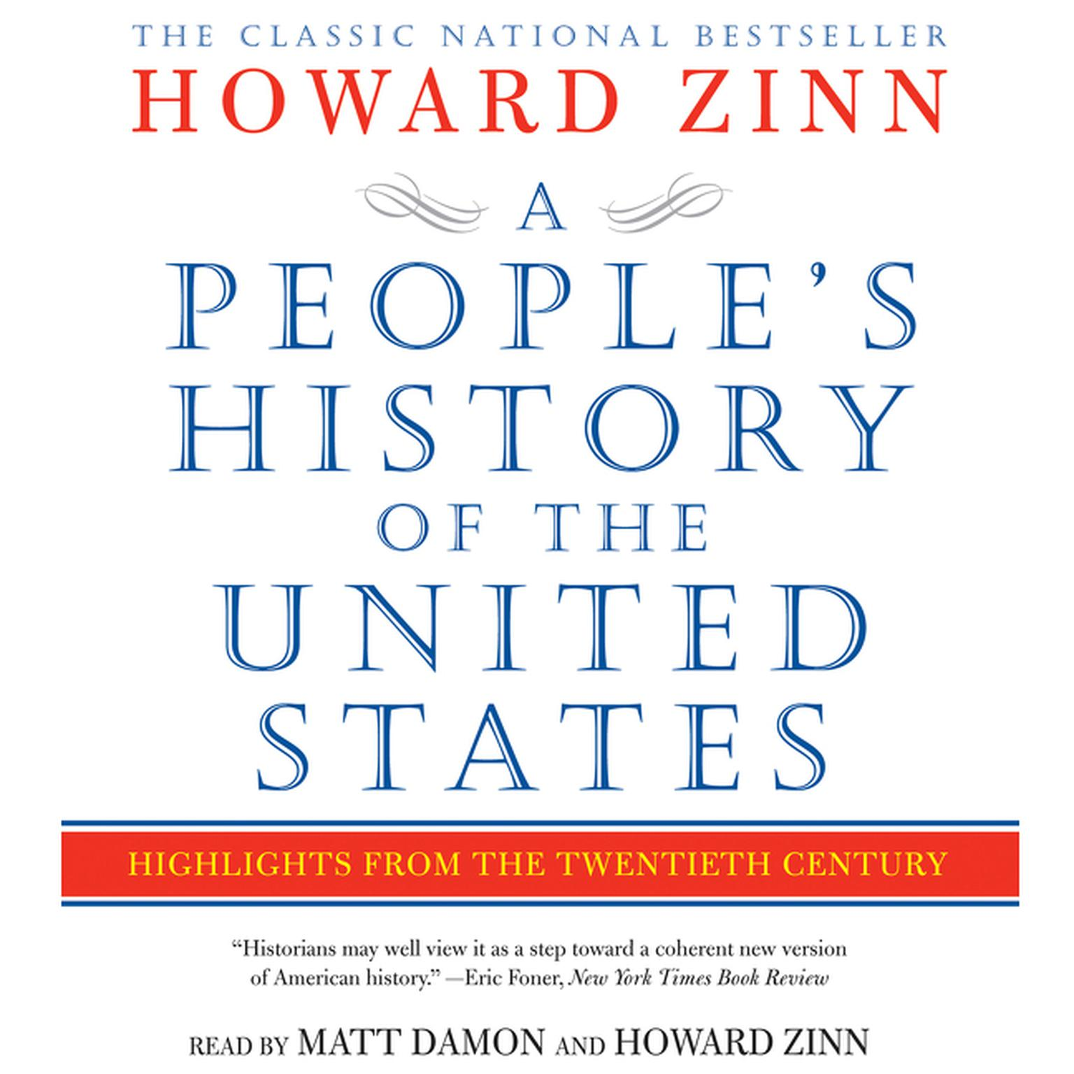 Printable A People's History of the United States: Highlights from the Twentieth Century Audiobook Cover Art