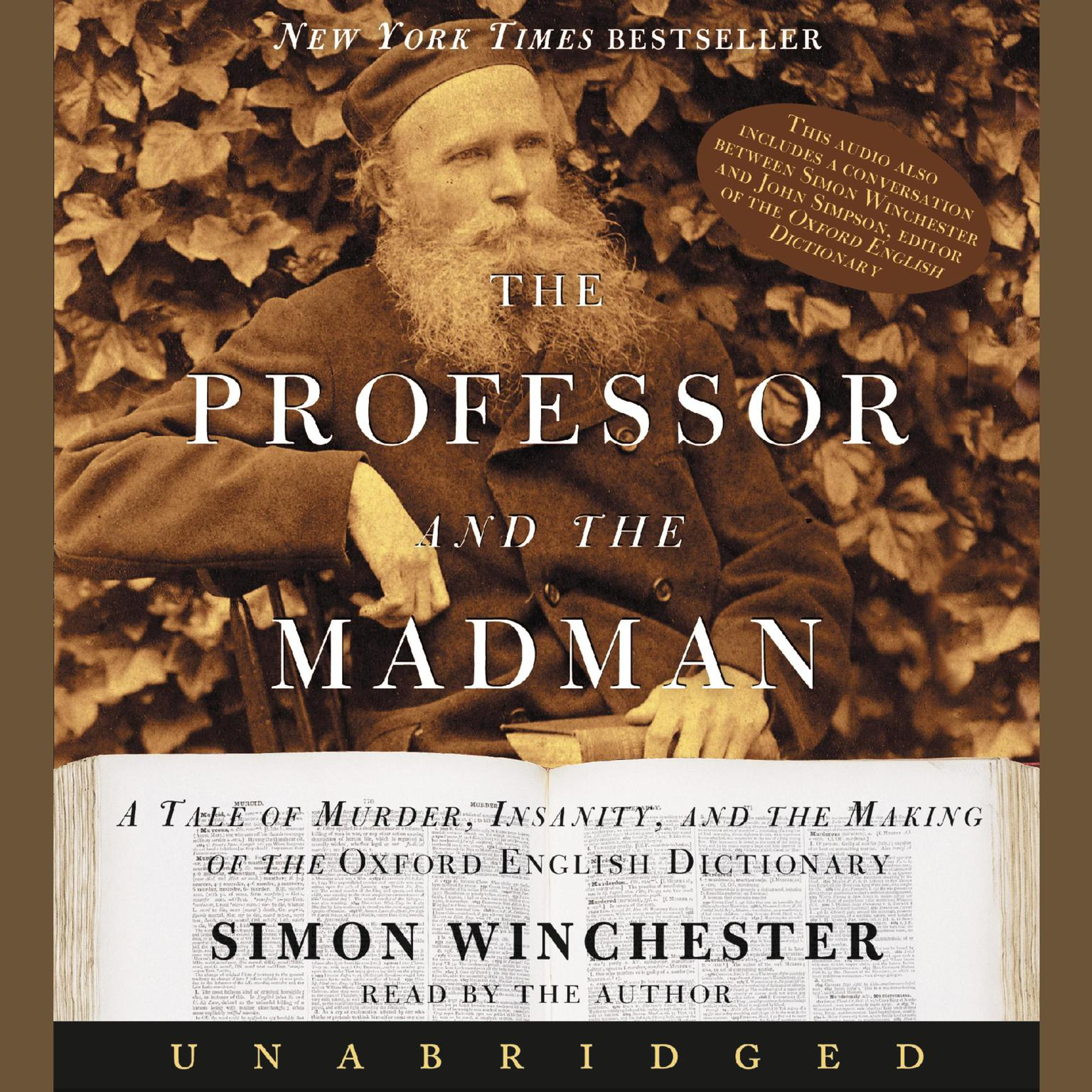 Printable The Professor and the Madman: A Tale of Murder, Insanity, and the Making of the Oxford English Dictionary Audiobook Cover Art