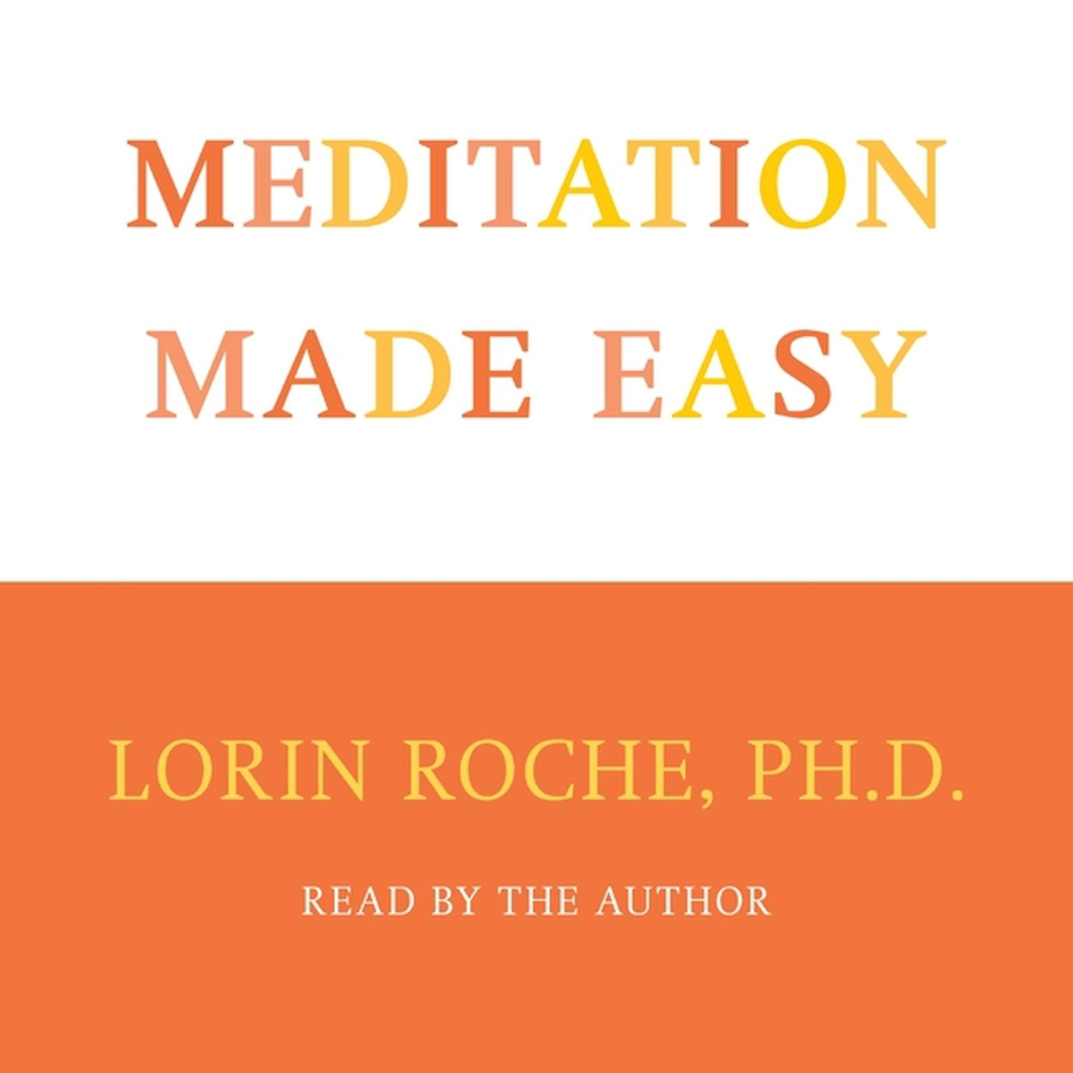 Printable Meditation Made Easy Audiobook Cover Art