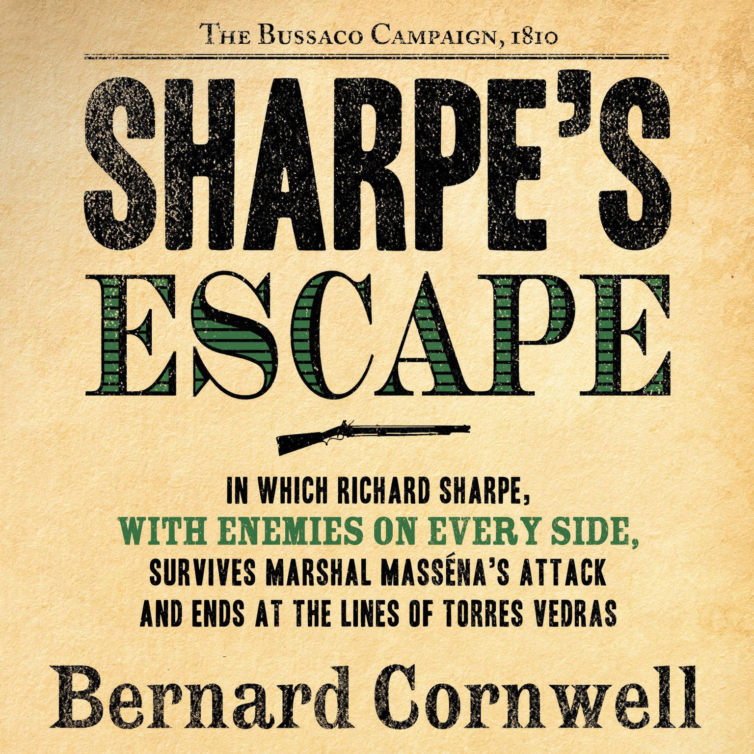 Printable Sharpe's Escape Audiobook Cover Art