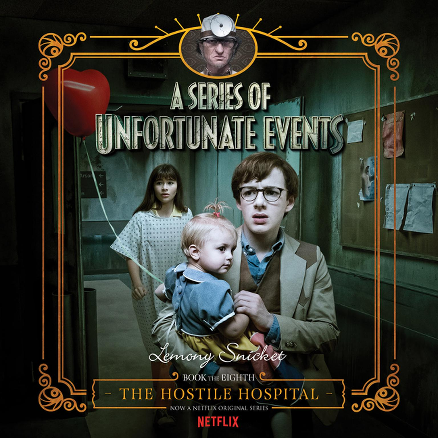 Printable The Hostile Hospital Audiobook Cover Art