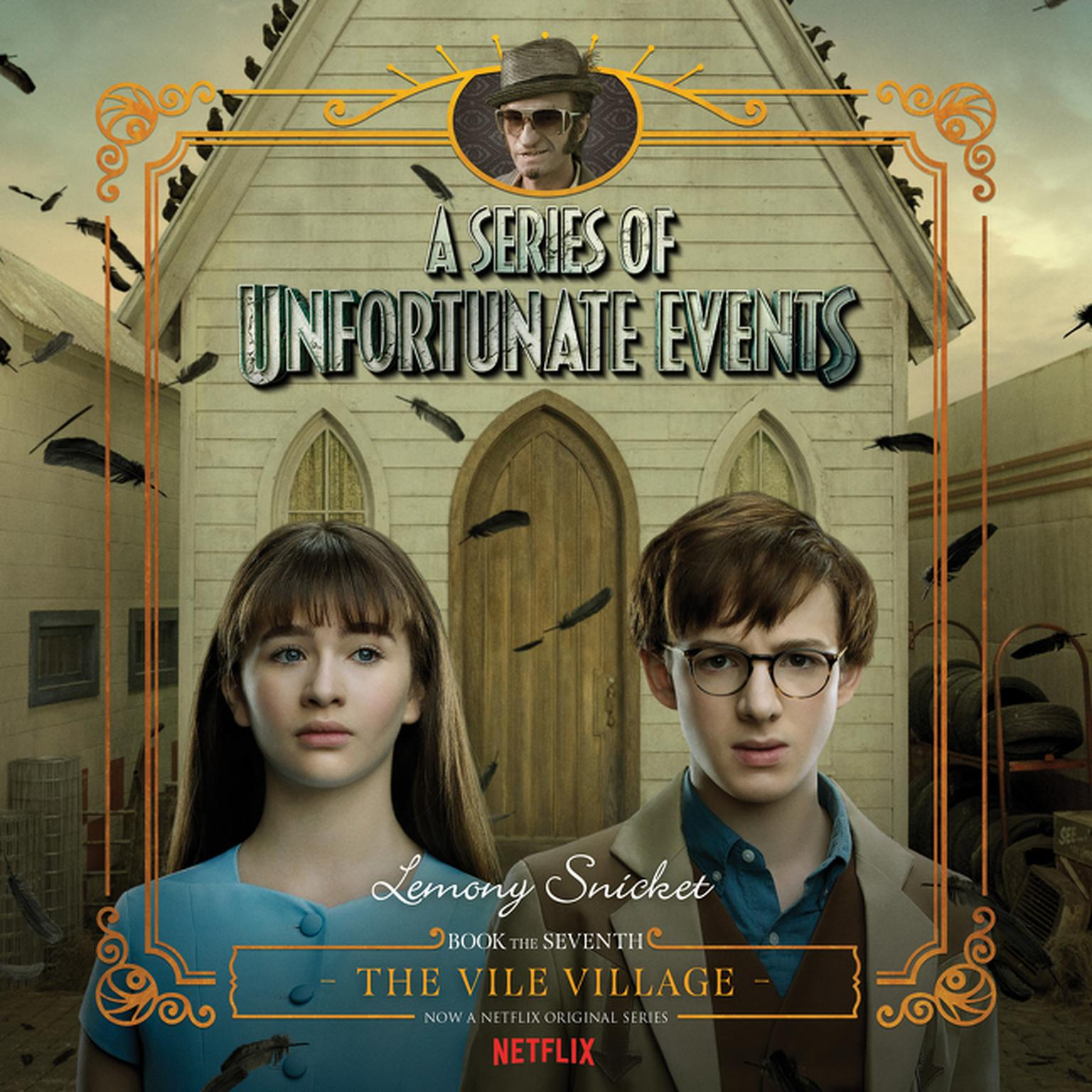 Printable Series of Unfortunate Events #7: The Vile VillageDA Audiobook Cover Art