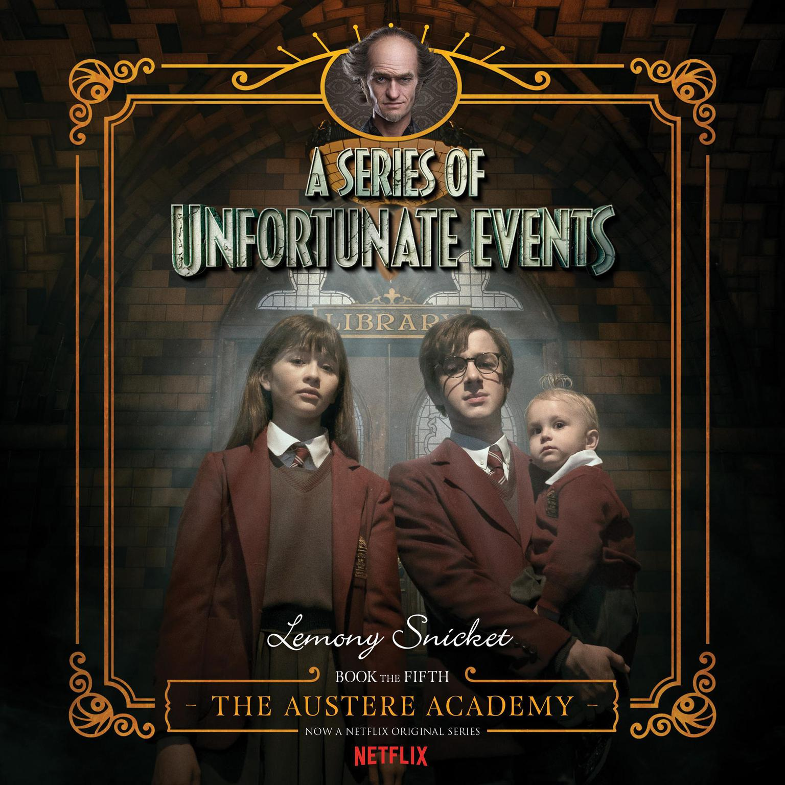 Printable Series of Unfortunate Events #5: The Austere Academy Audiobook Cover Art