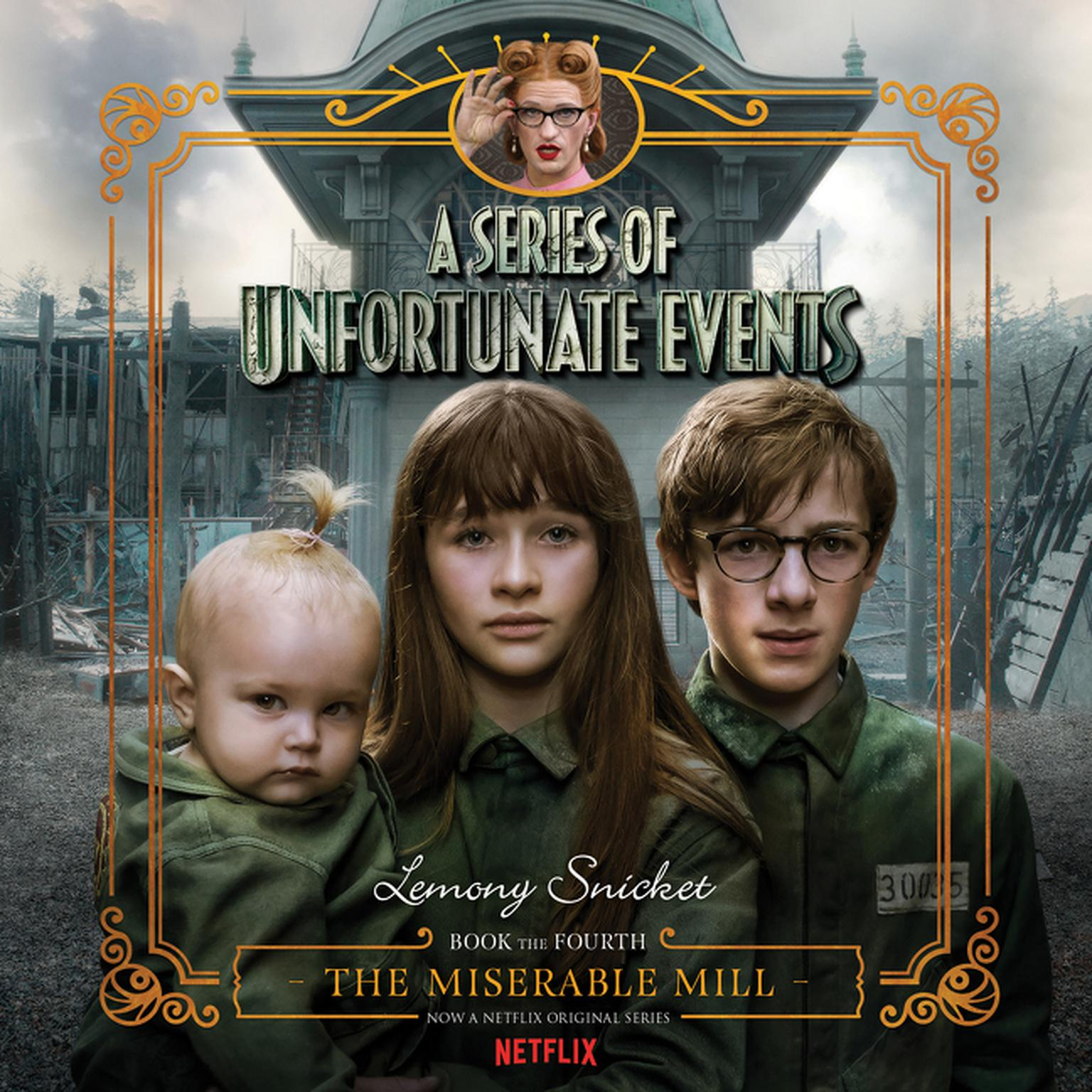 Printable Series of Unfortunate Events #4: The Miserable Mill Audiobook Cover Art