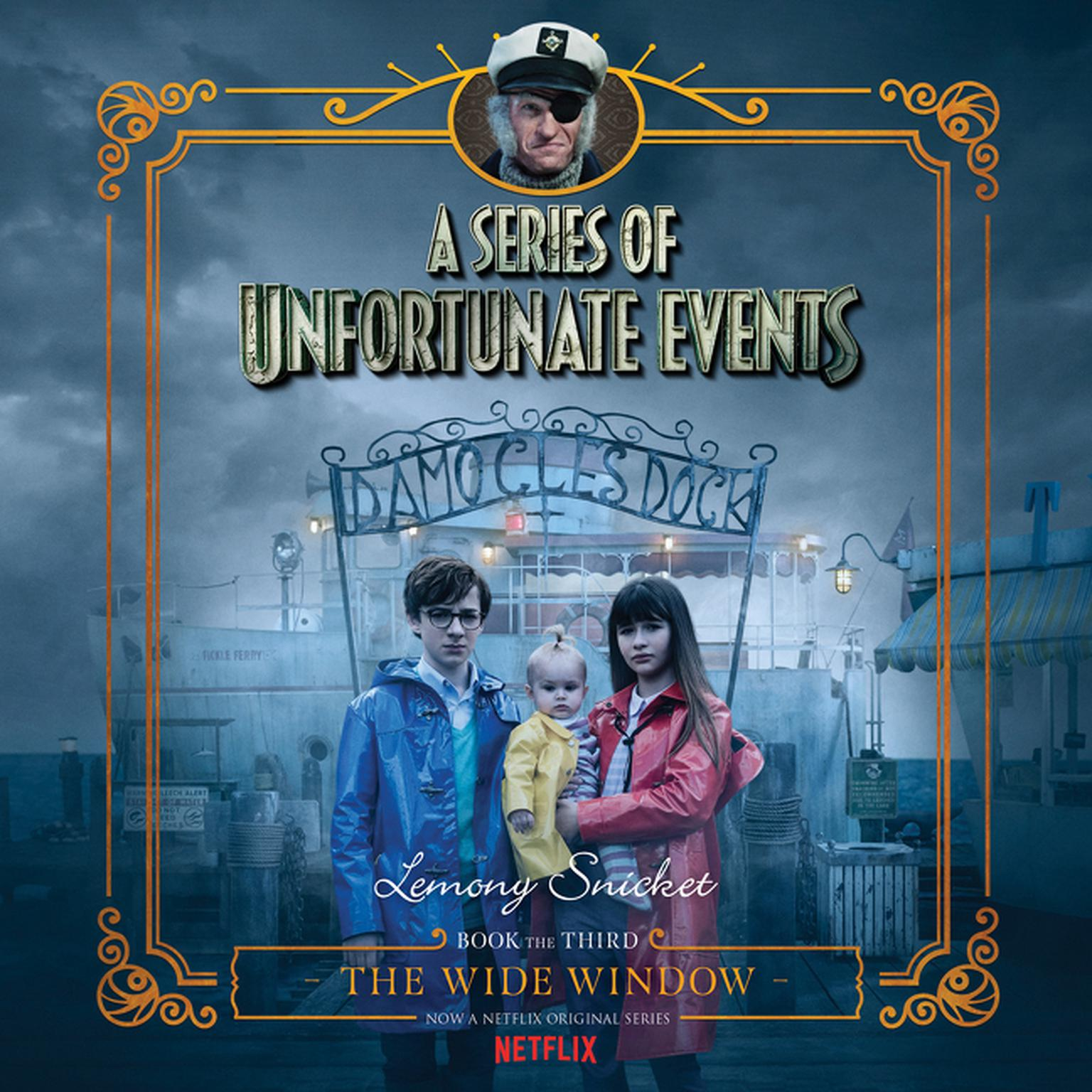 Printable Series of Unfortunate Events #3: The Wide Window Audiobook Cover Art