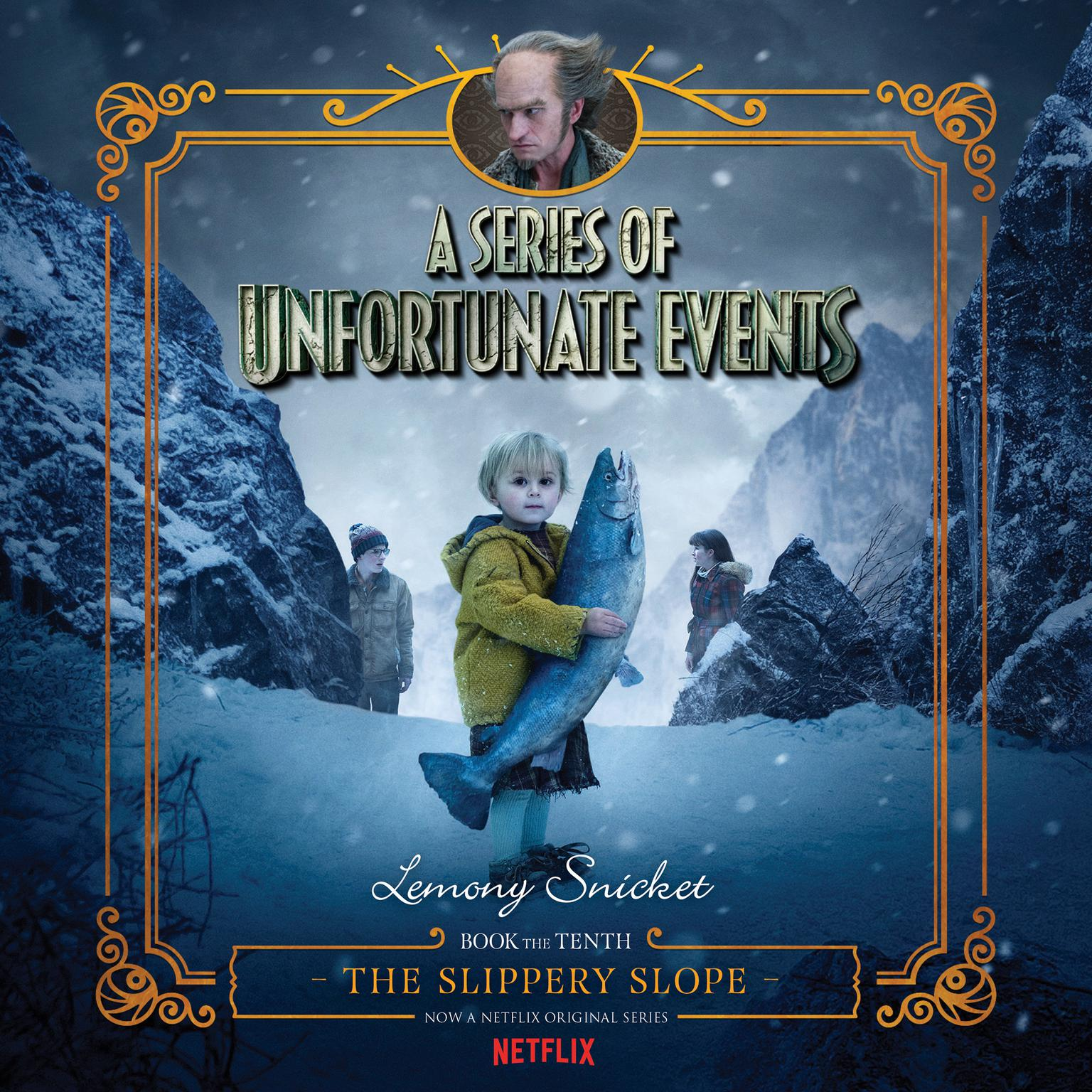 Printable Series of Unfortunate Events #10: The Slippery Slope Audiobook Cover Art