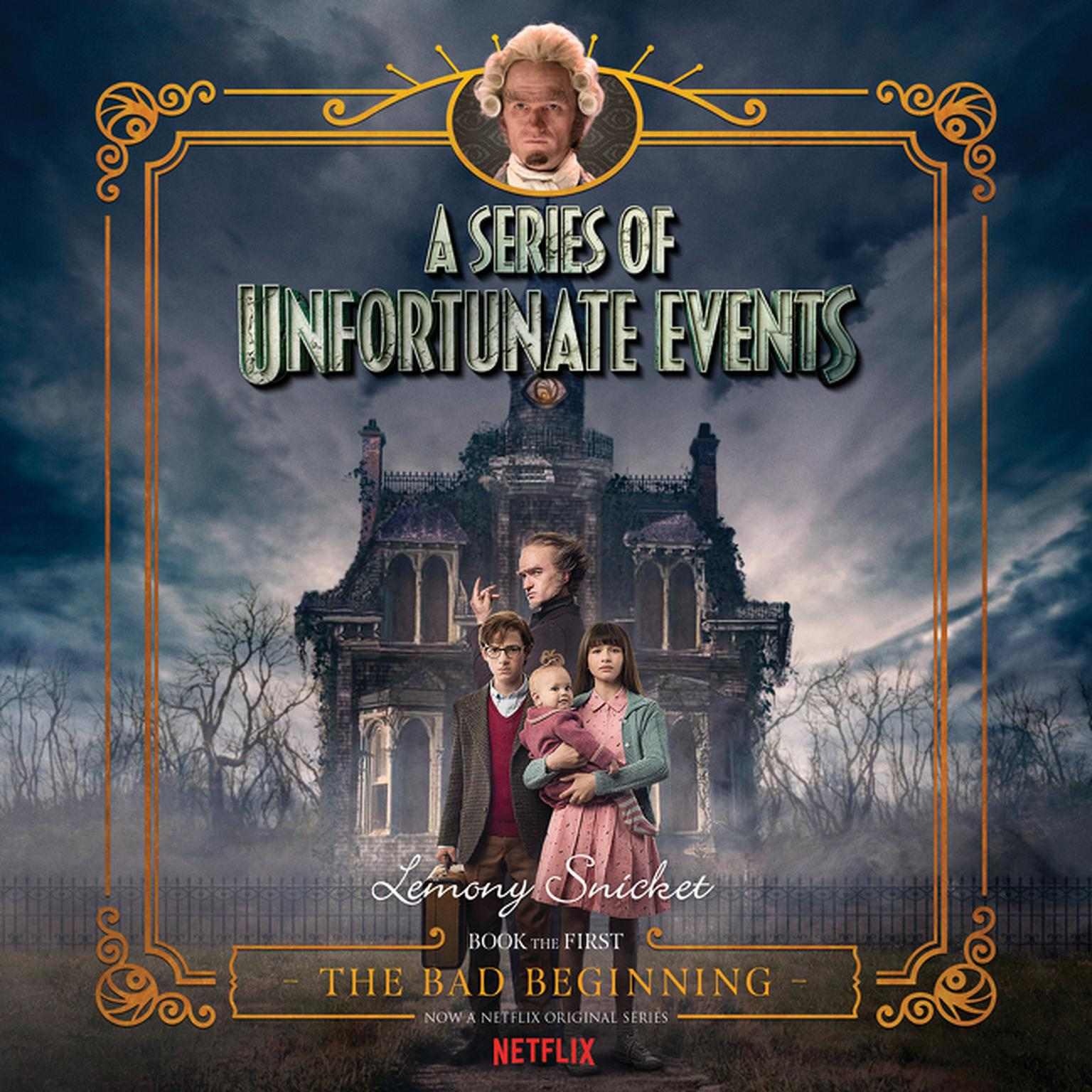 Printable Series of Unfortunate Events #1 Multi-Voice, A: The Bad Beginning Audiobook Cover Art