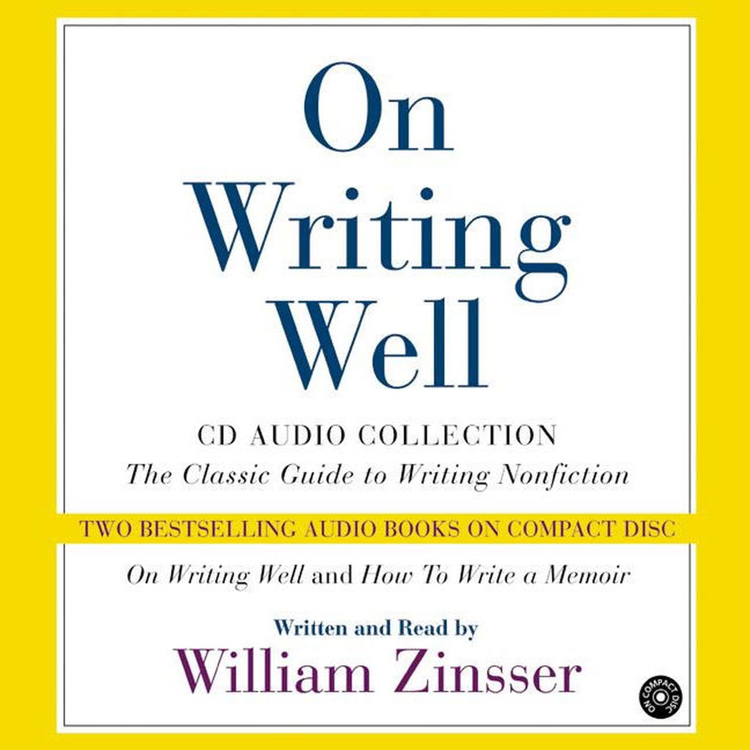 Printable On Writing Well: Audio Collection Audiobook Cover Art