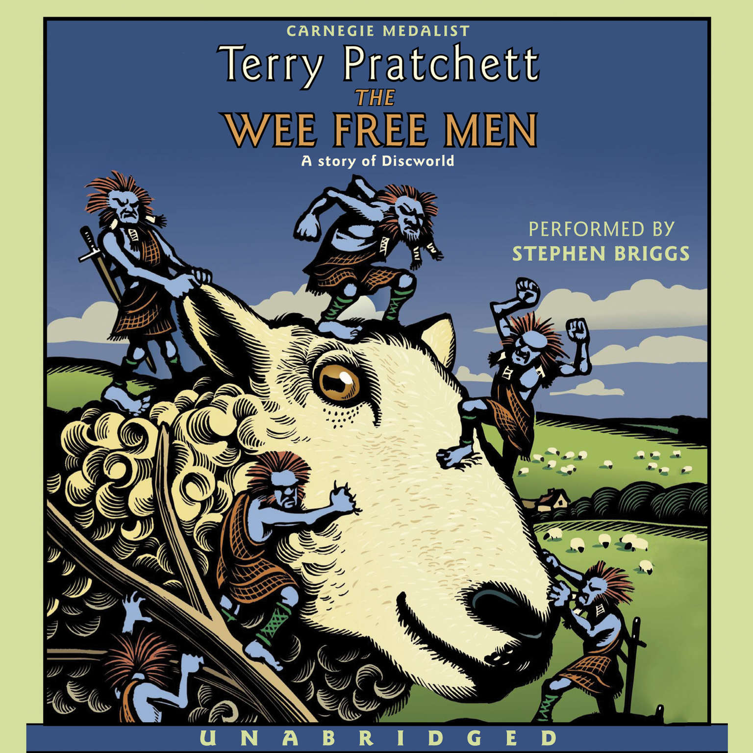 Printable The Wee Free Men Audiobook Cover Art