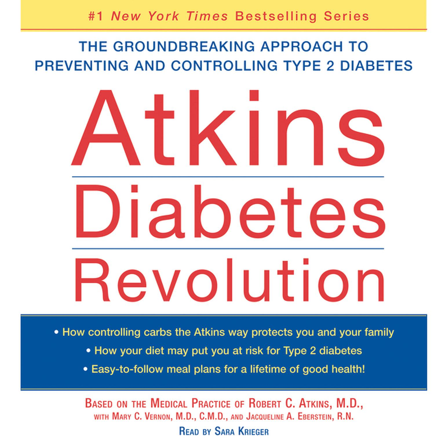 Printable Atkins Diabetes Revolution: The Groundbreaking Approach to Preventin Audiobook Cover Art