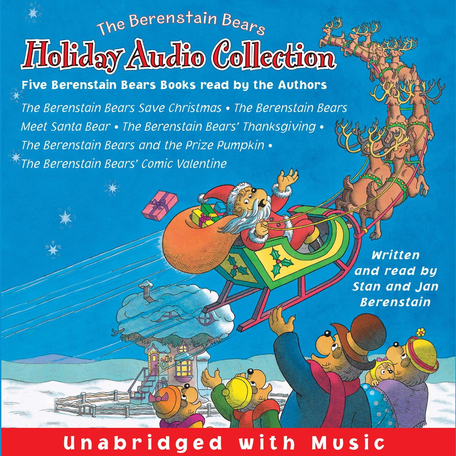 Printable The Berenstain Bears Holiday Audio Collection Audiobook Cover Art