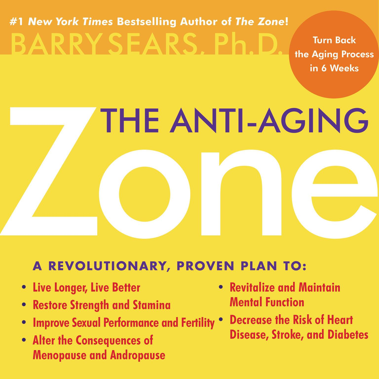 Printable The Anti-Aging Zone Audiobook Cover Art