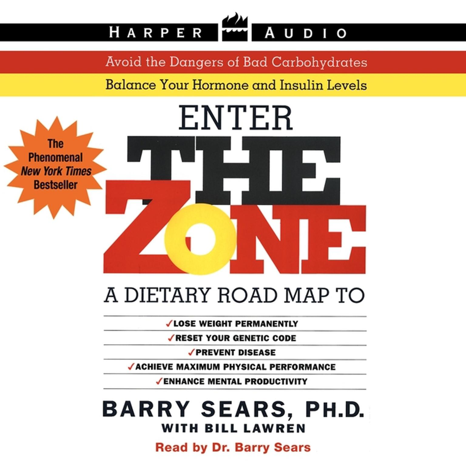 Printable The Zone: A Dietary Road Map Audiobook Cover Art