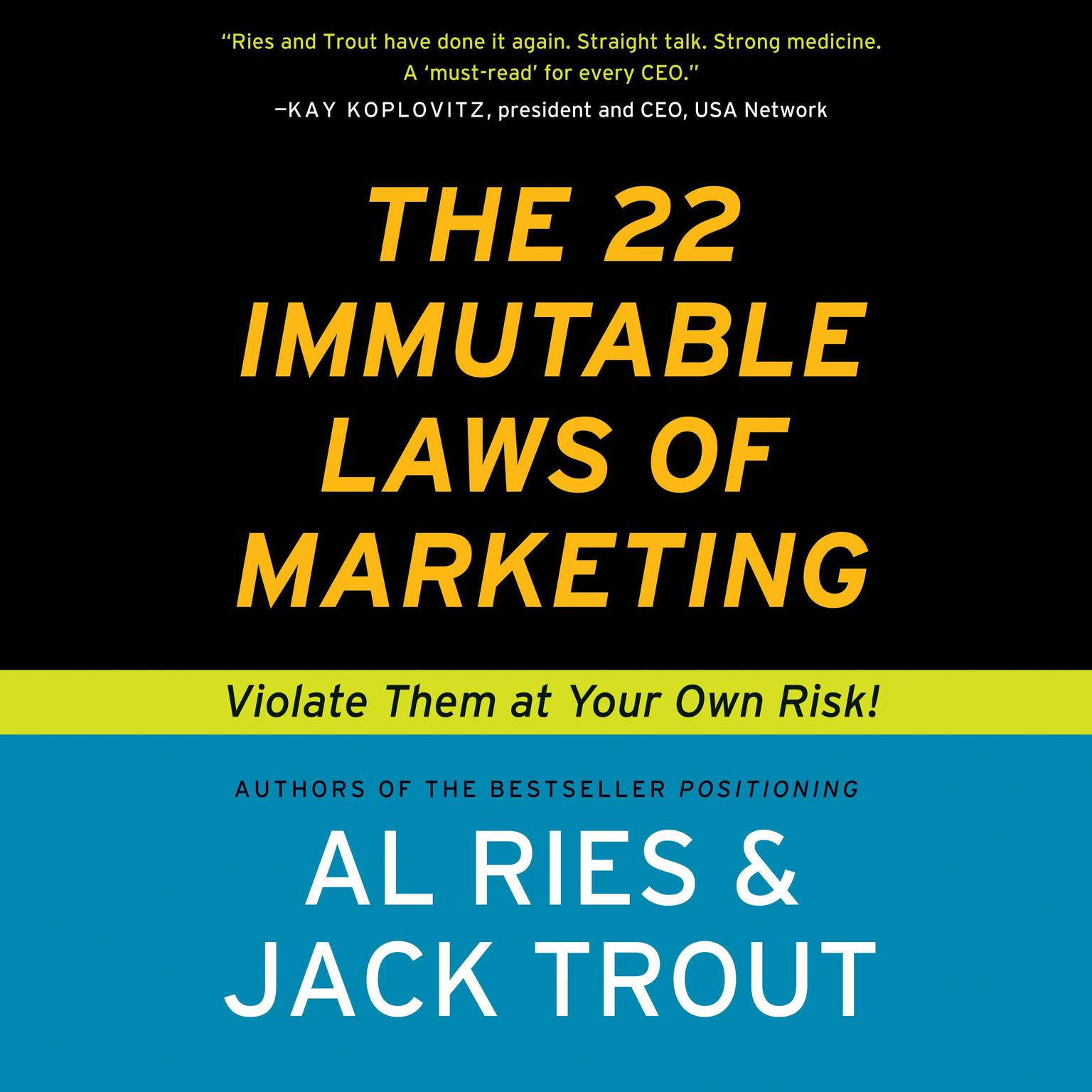 Printable The 22 Immutable Laws of Marketing: Violate Them at Your Own Risk Audiobook Cover Art