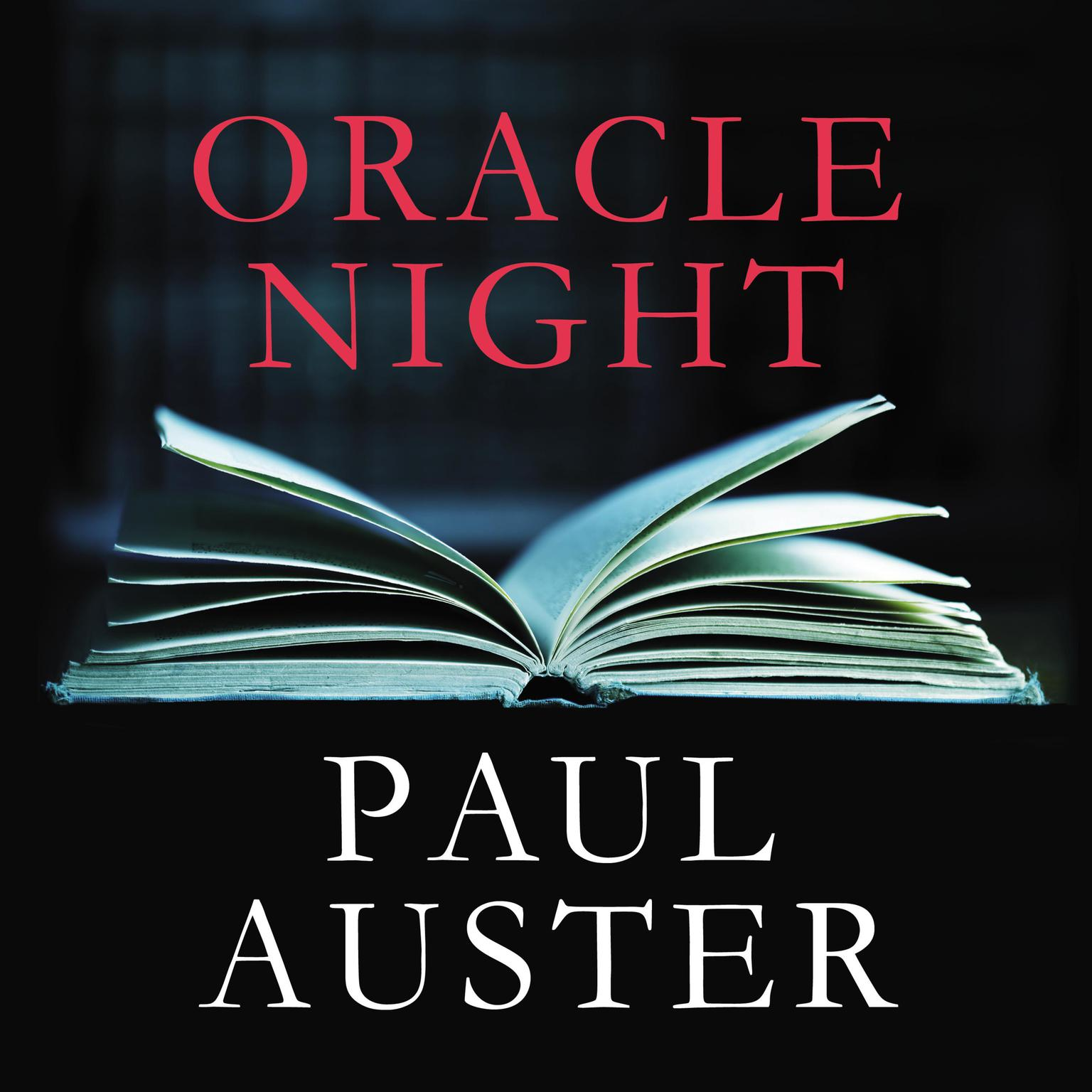 Printable Oracle Night Audiobook Cover Art
