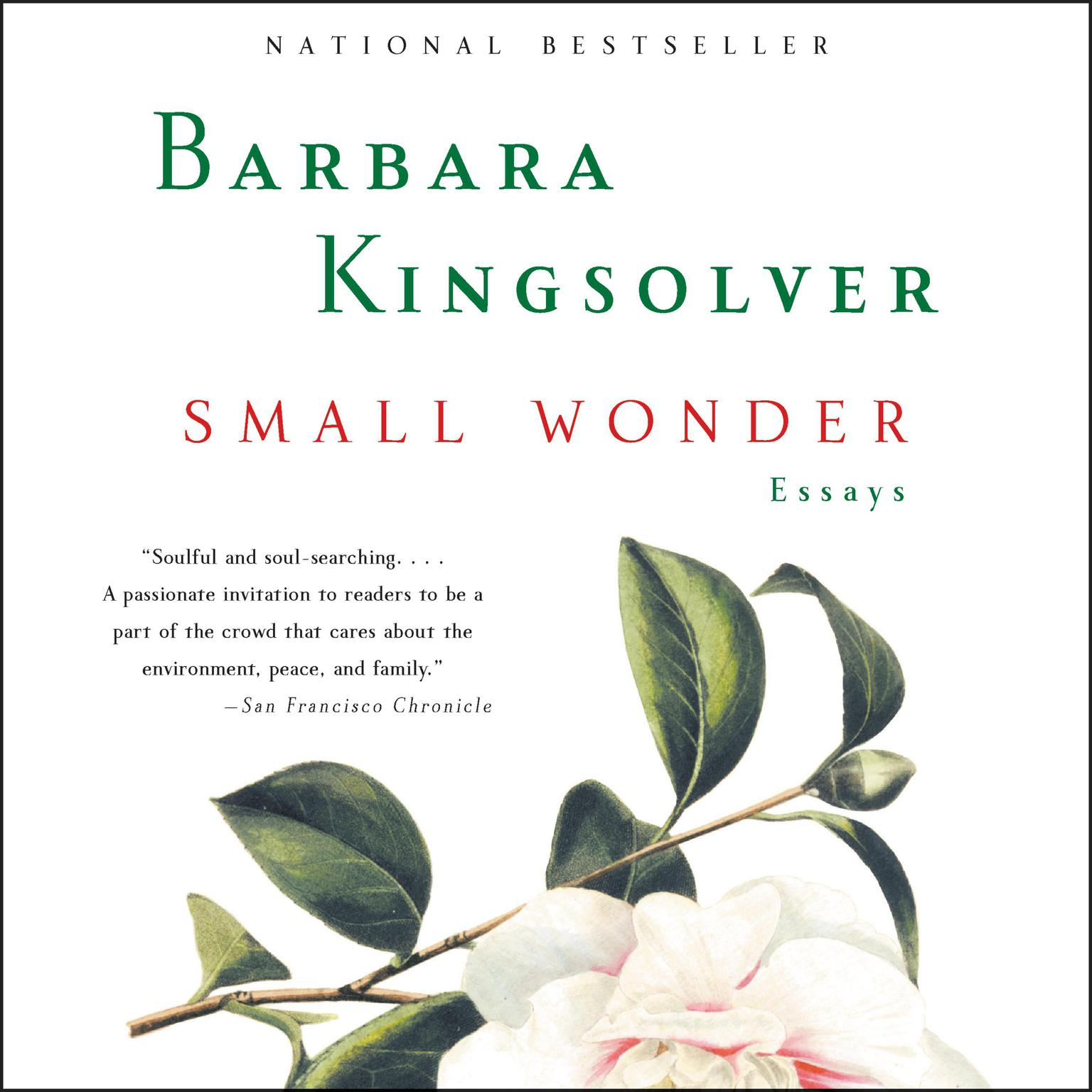Printable Small Wonder: Essays Audiobook Cover Art