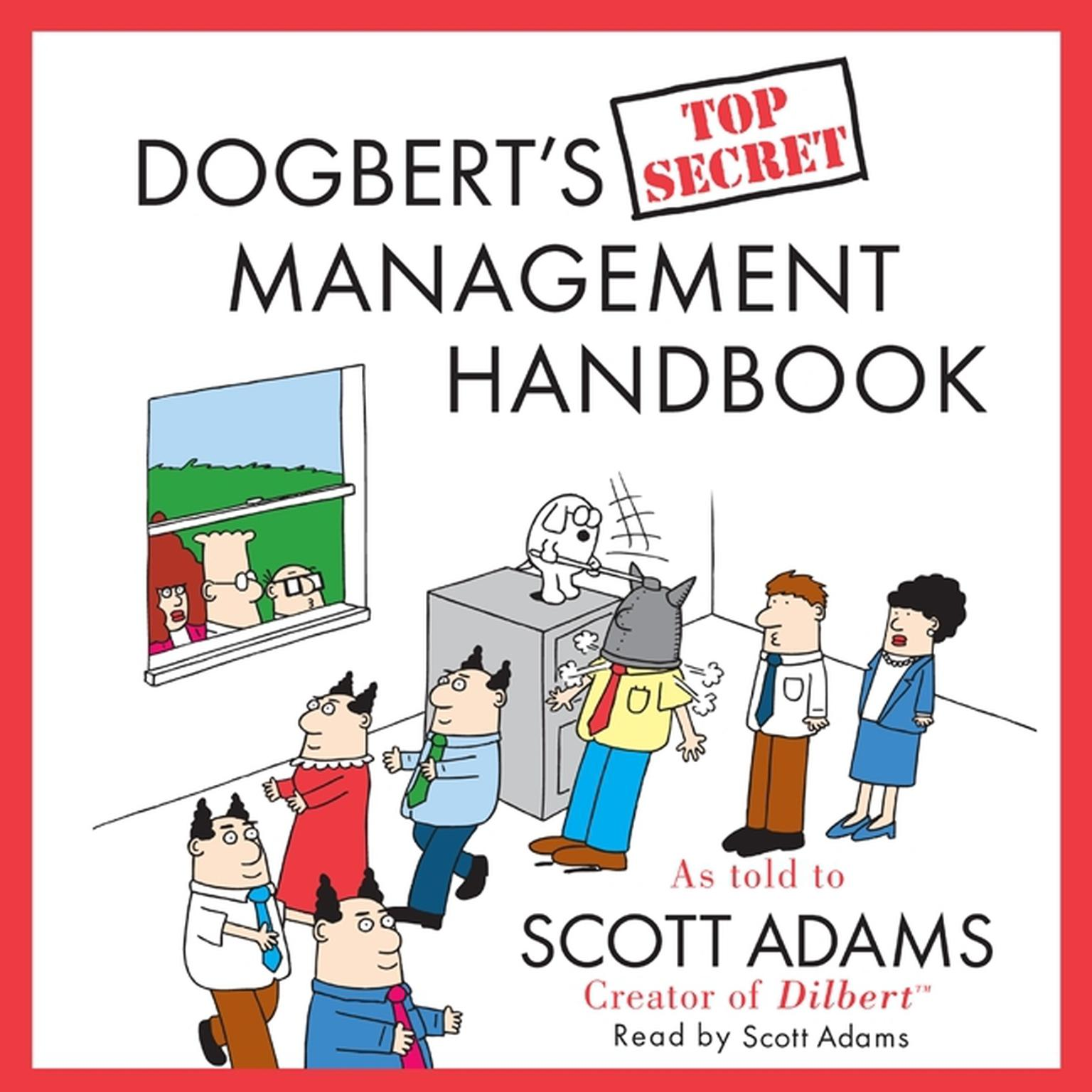 Printable Dogbert's Top Secret Management Handbook Audiobook Cover Art