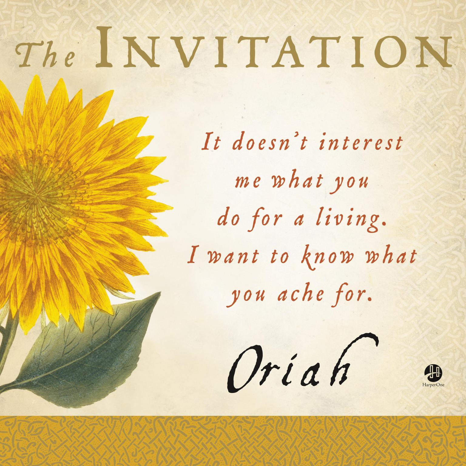 Printable The Invitation Audiobook Cover Art