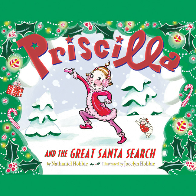 Printable Priscilla and the Great Santa Search Audiobook Cover Art