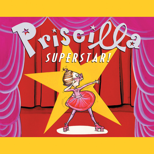 Printable Priscilla Superstar! Audiobook Cover Art