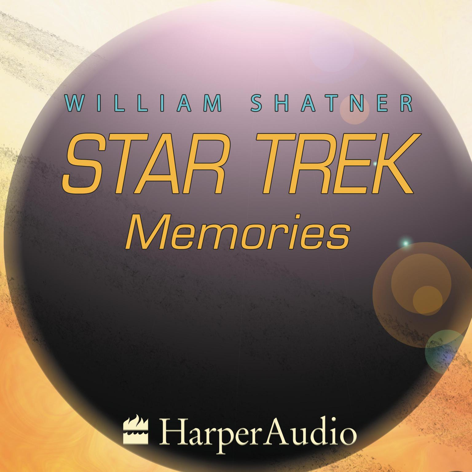 Printable STAR TREK MEMORIES Audiobook Cover Art