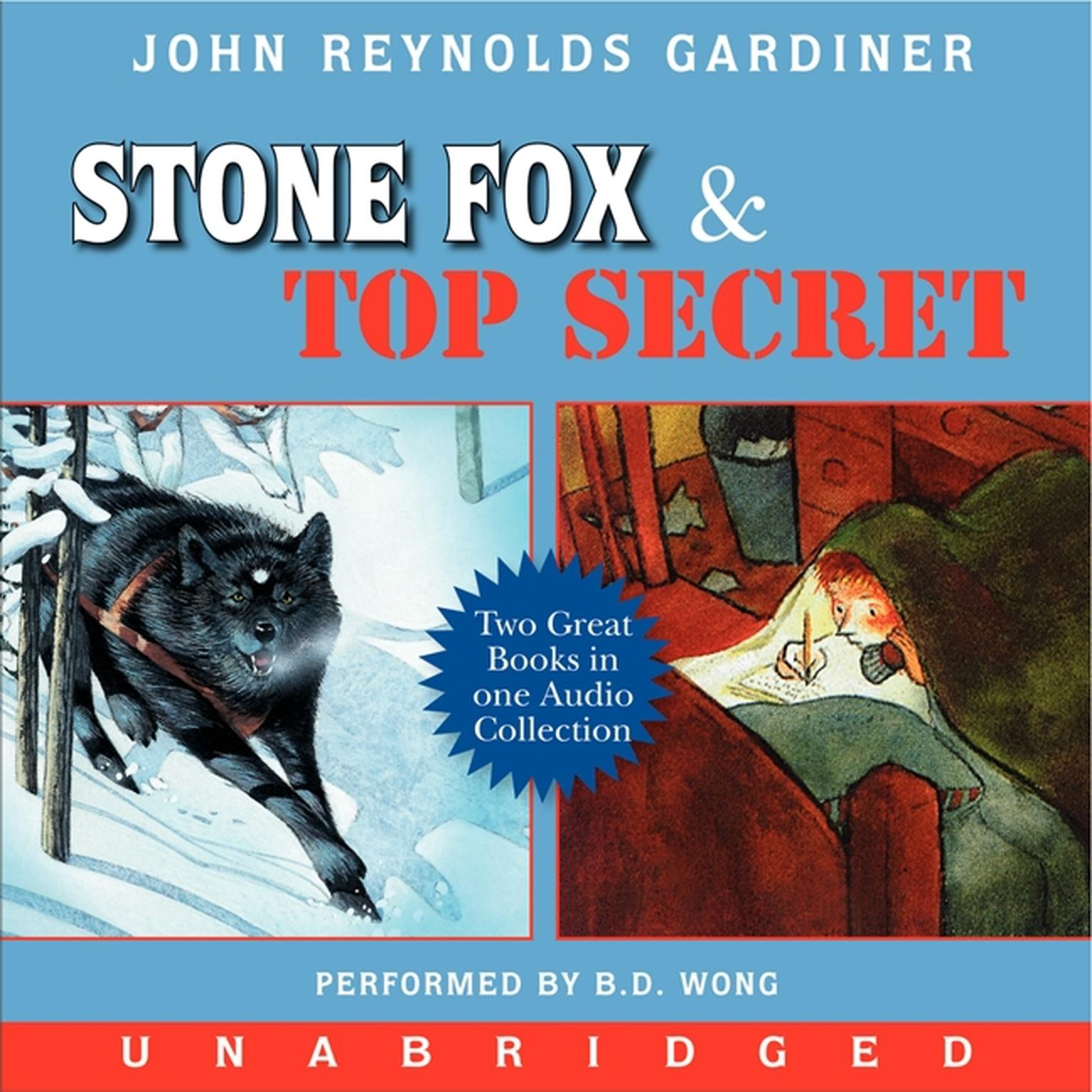 Printable Stone Fox and Top Secret Audiobook Cover Art