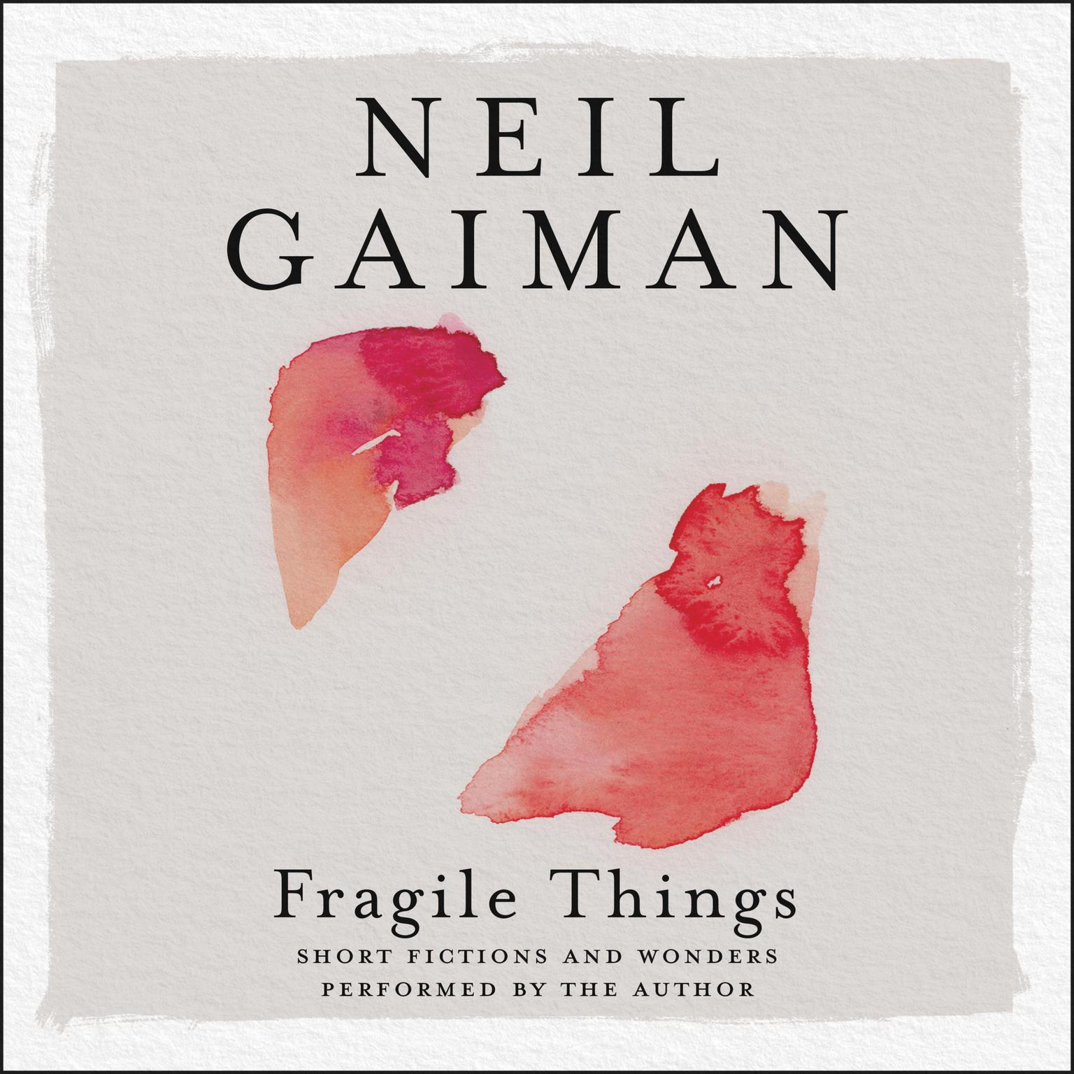 Printable Fragile Things: Stories Audiobook Cover Art