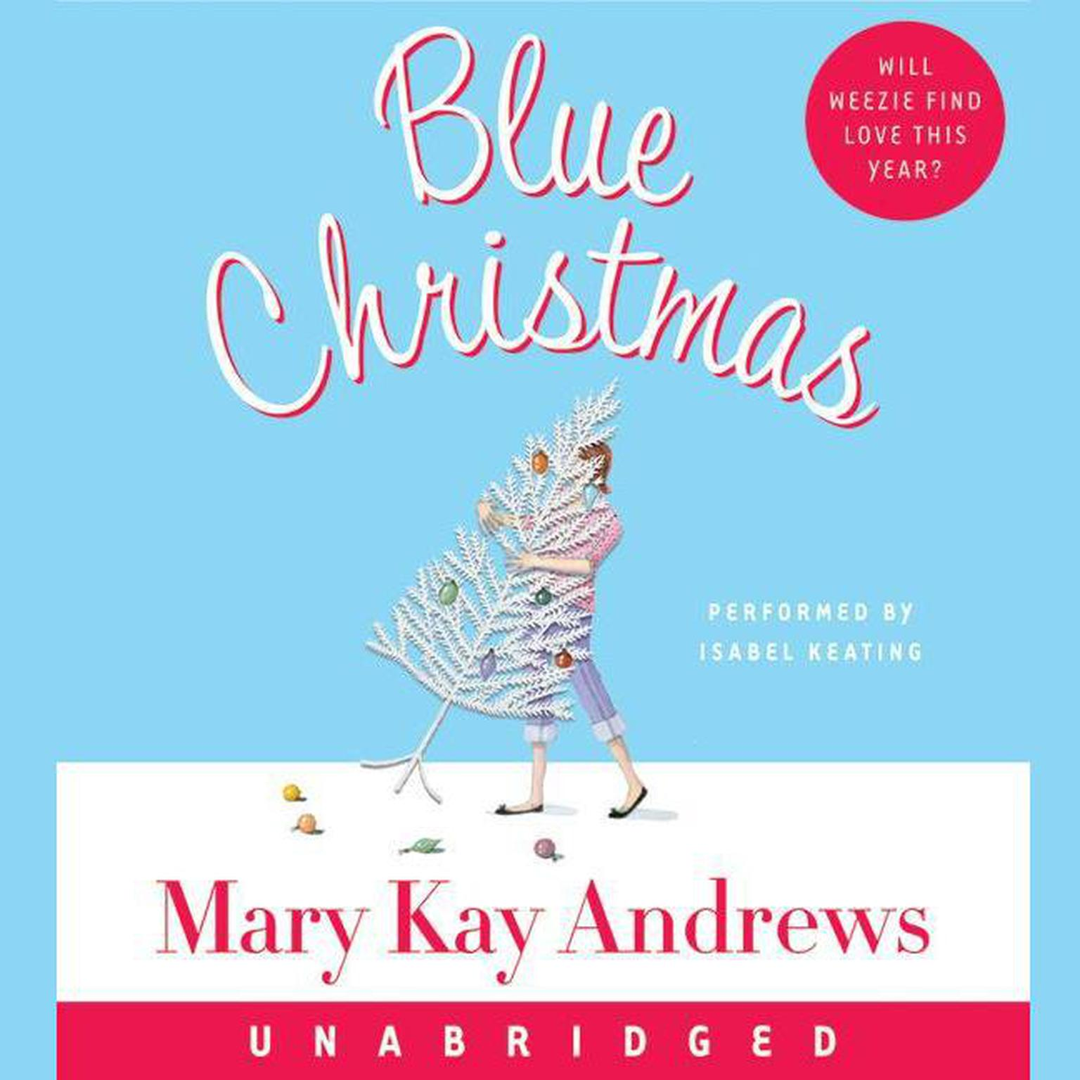 Printable Blue Christmas Audiobook Cover Art