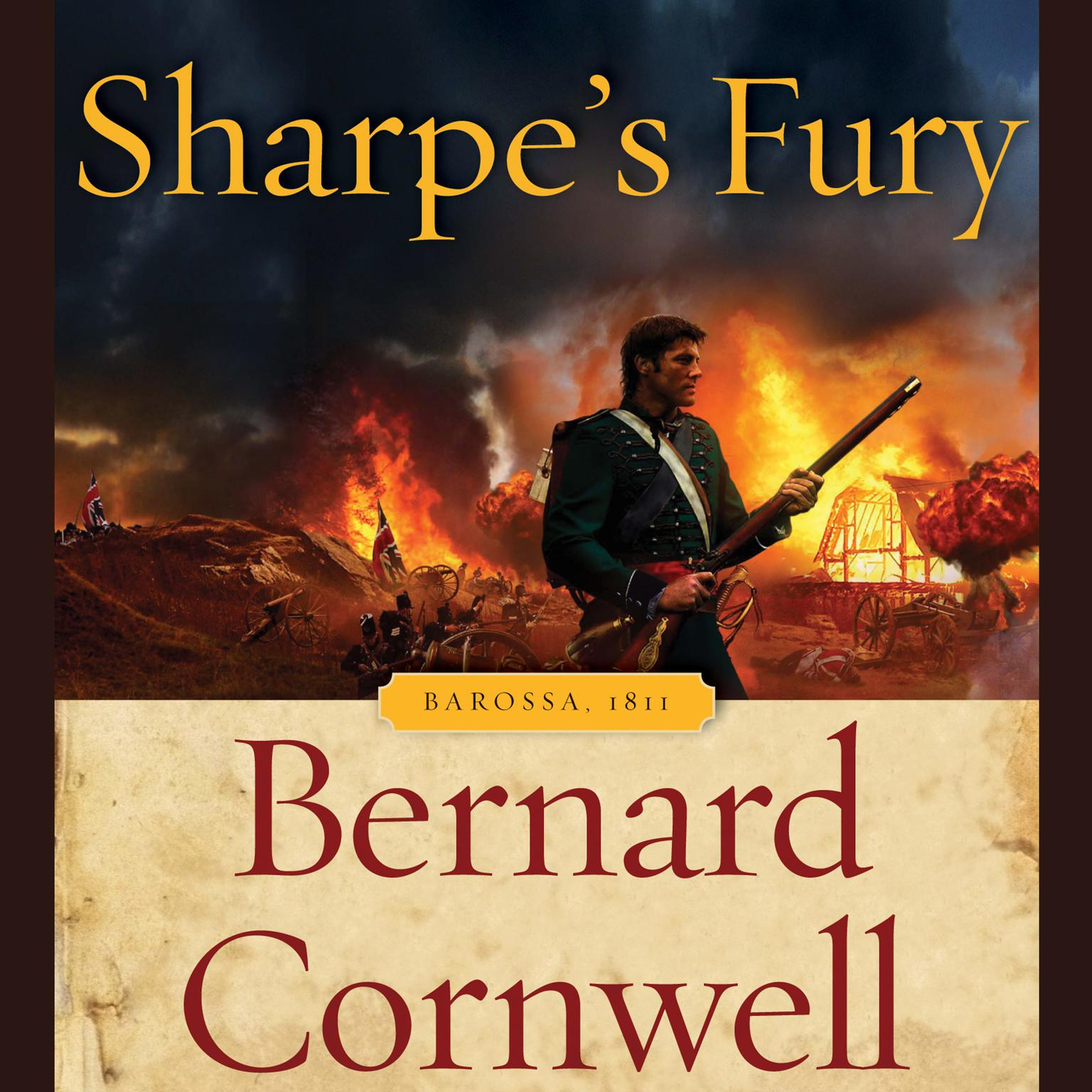 Printable Sharpe's Fury: Barossa, 1811 Audiobook Cover Art