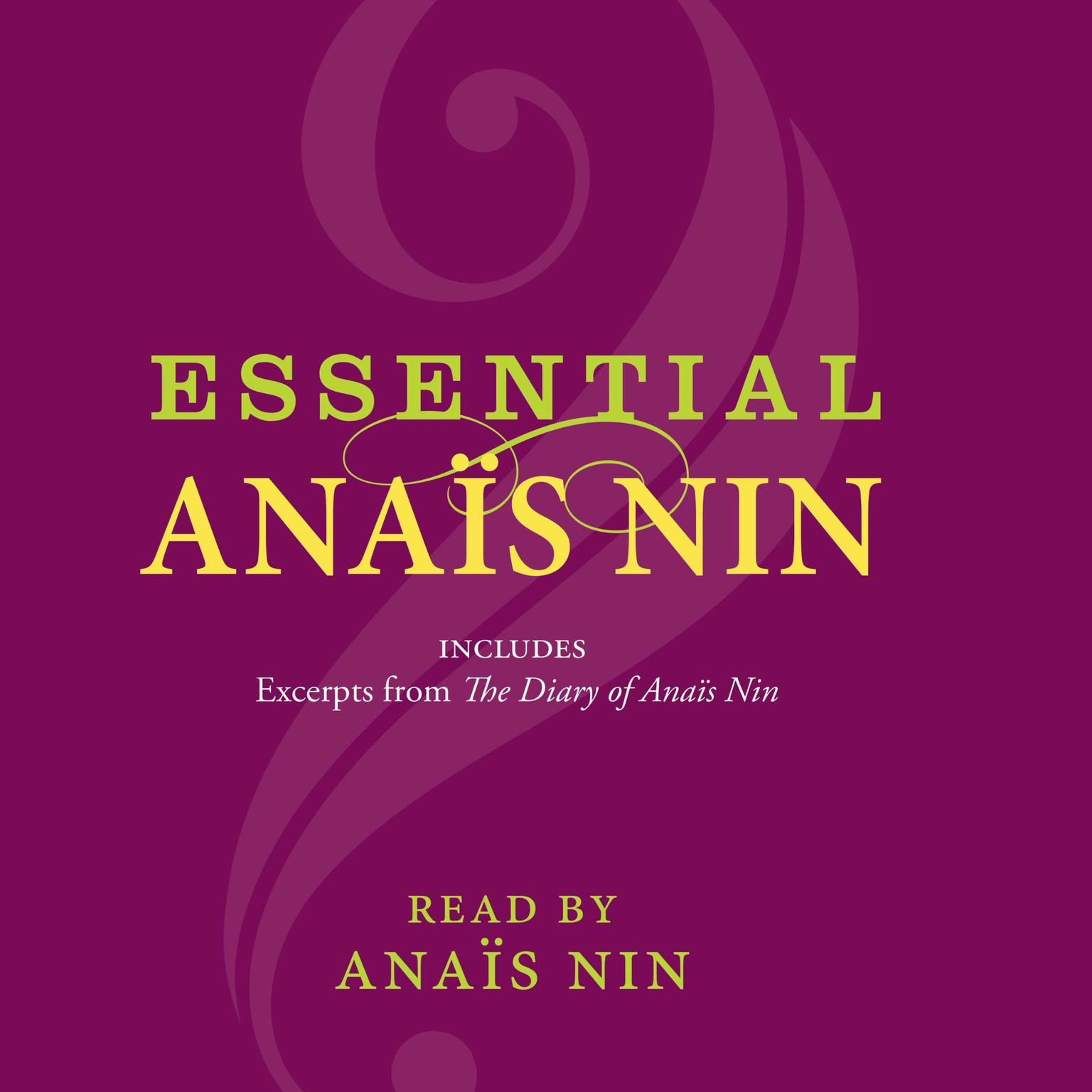 Printable Essential Anais Nin Audiobook Cover Art