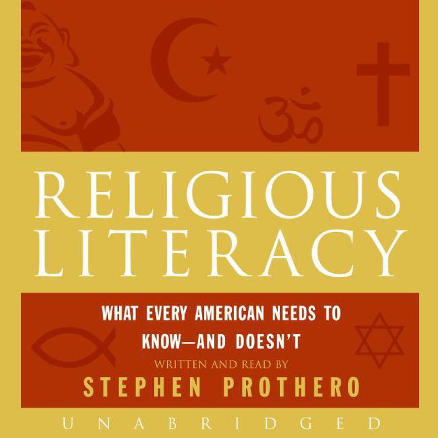 Printable Religious Literacy Audiobook Cover Art