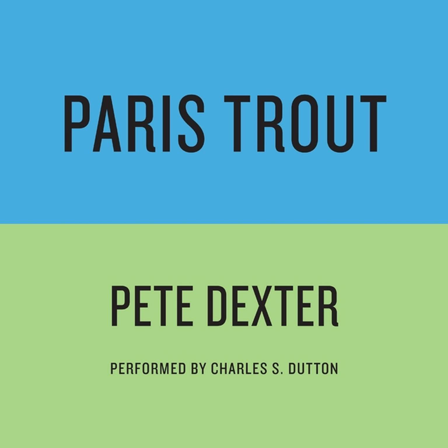 Printable PARIS TROUT Audiobook Cover Art
