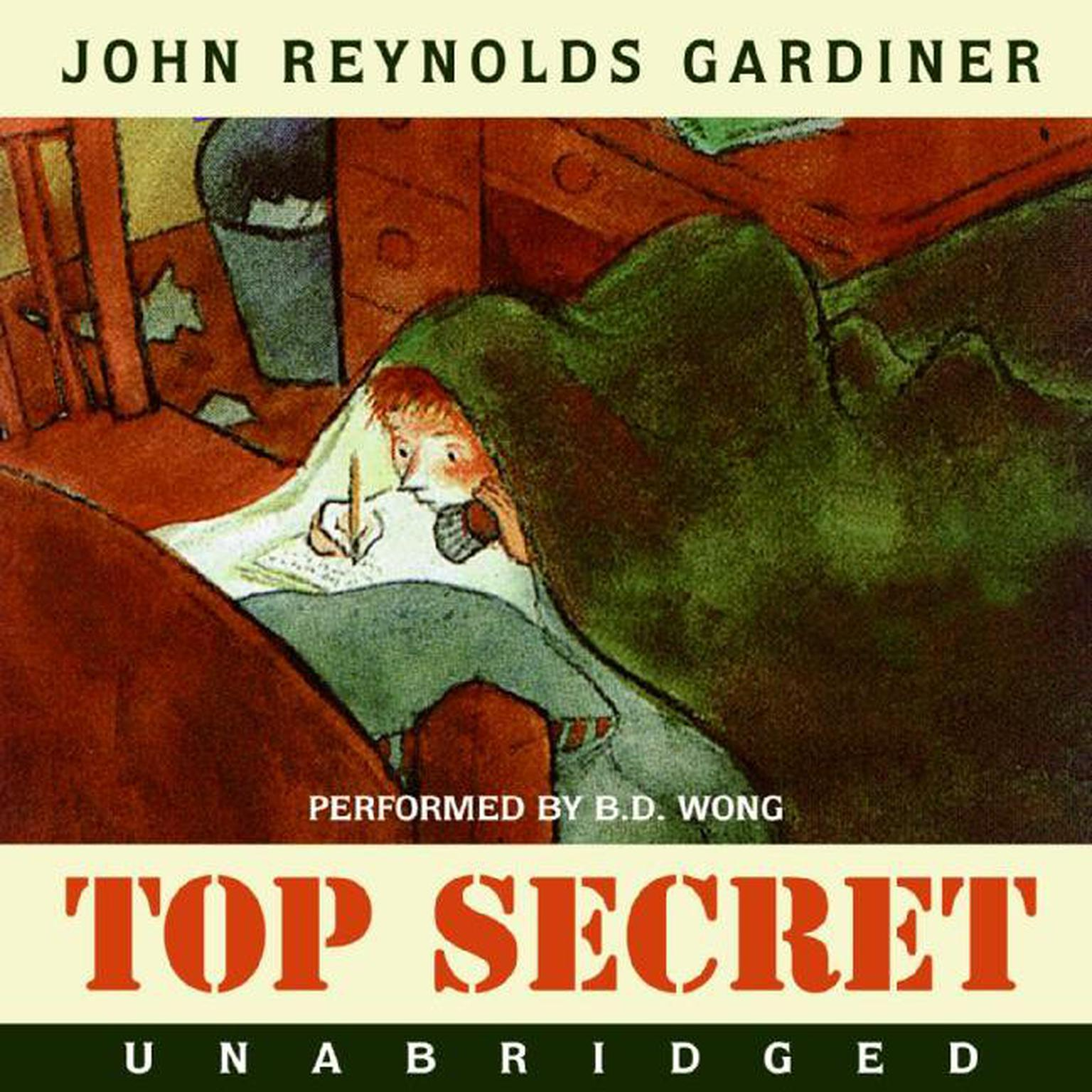 Printable Top Secret Audiobook Cover Art