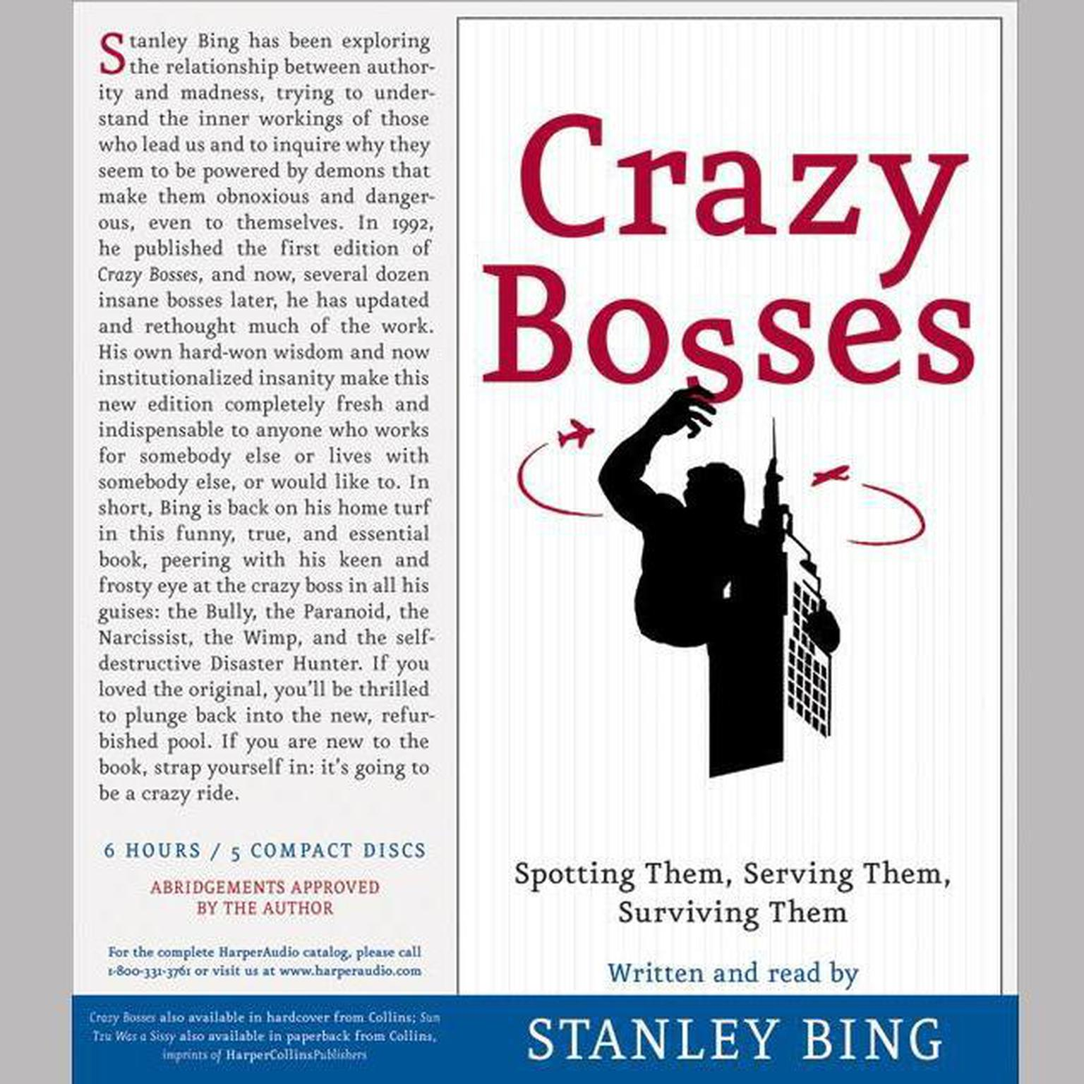Printable Crazy Bosses and Sun Tzu Was a Sissy Audiobook Cover Art