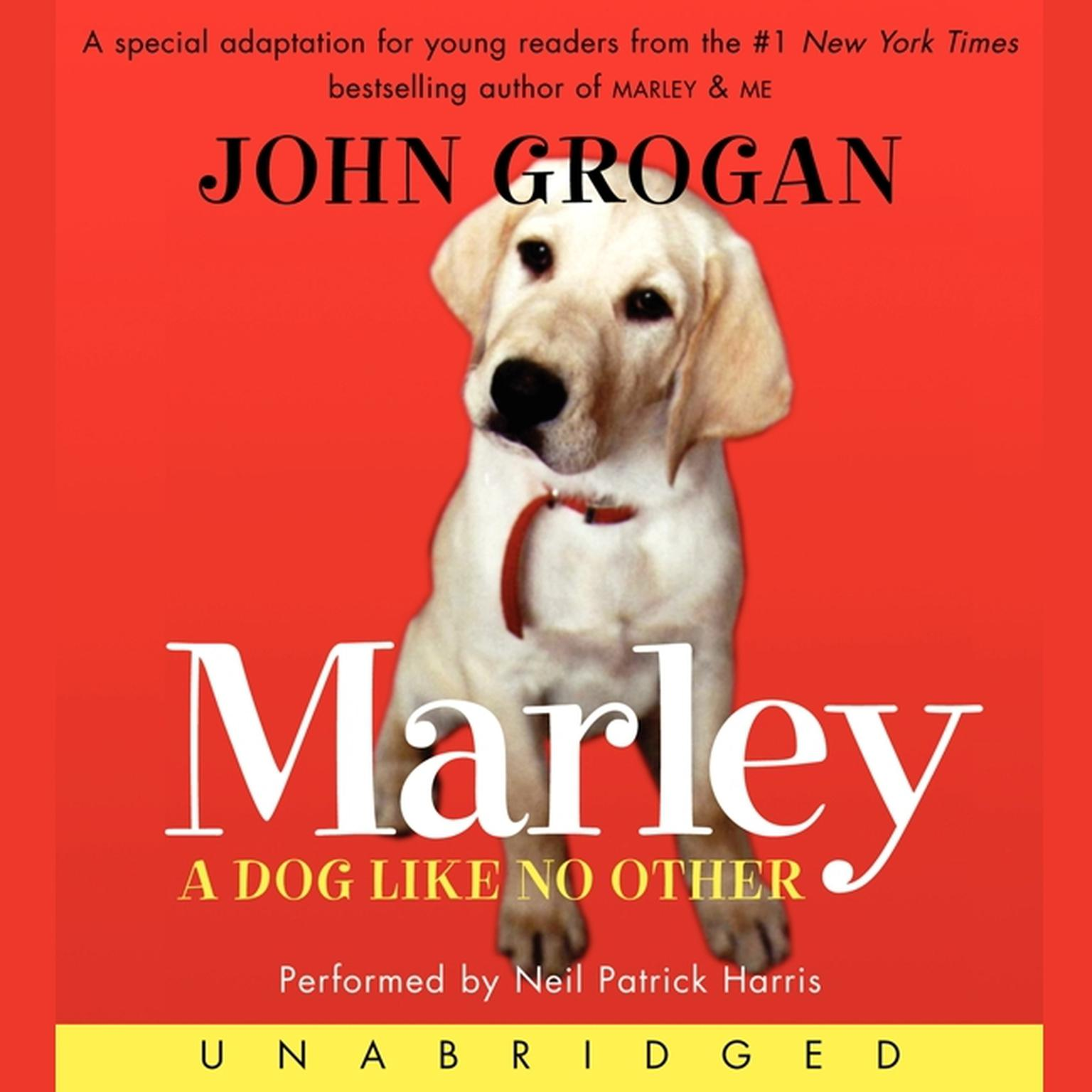 Printable Marley: A Dog Like No Other Audiobook Cover Art