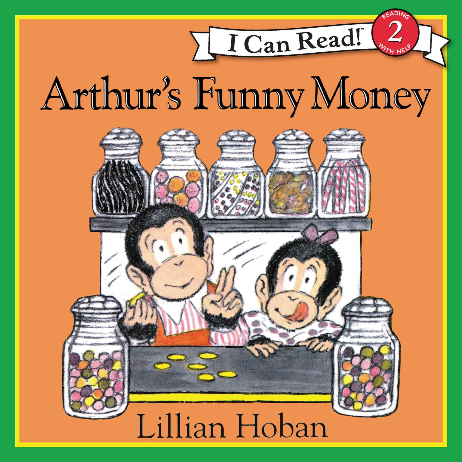 Printable Arthur's Funny Money Audiobook Cover Art