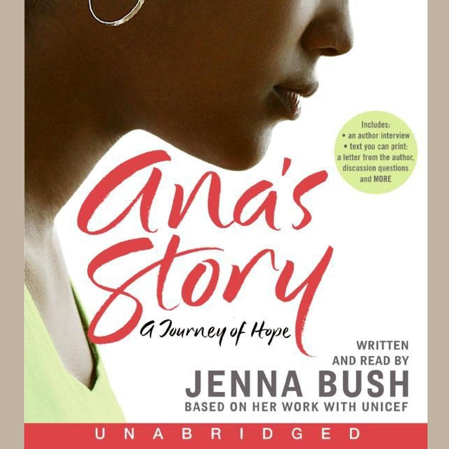 Printable Ana's Story: A Journey of Hope Audiobook Cover Art